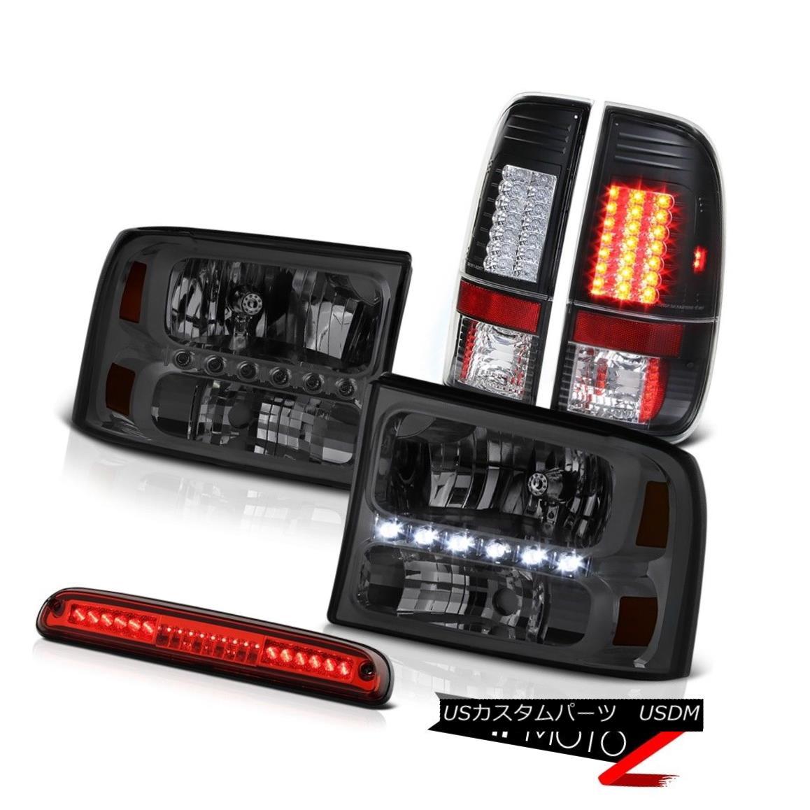 テールライト Pair Smoke Headlamp LED Bulbs TailLight High Stop Red 99-04 F350 Harley Davidson ペア煙ヘッドランプLED球TailLightハイストップレッド99-04 F350ハーレーダビッドソン