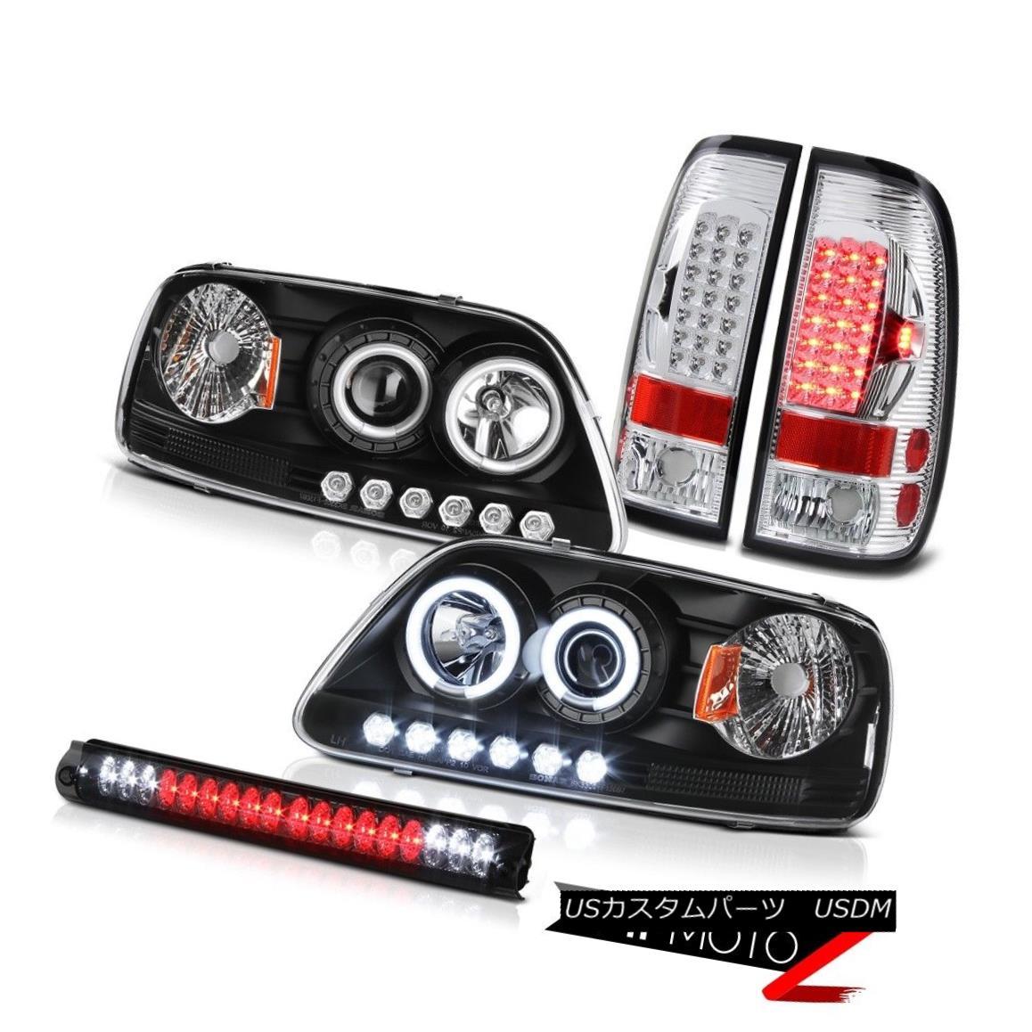 テールライト CCFL Black Headlight 2001 2002 2003 F150 Bright LED Tail Lights Third Brake Lamp CCFLブラックヘッドライト2001 2002 2003 F150ブライトLEDテールライト第3ブレーキランプ