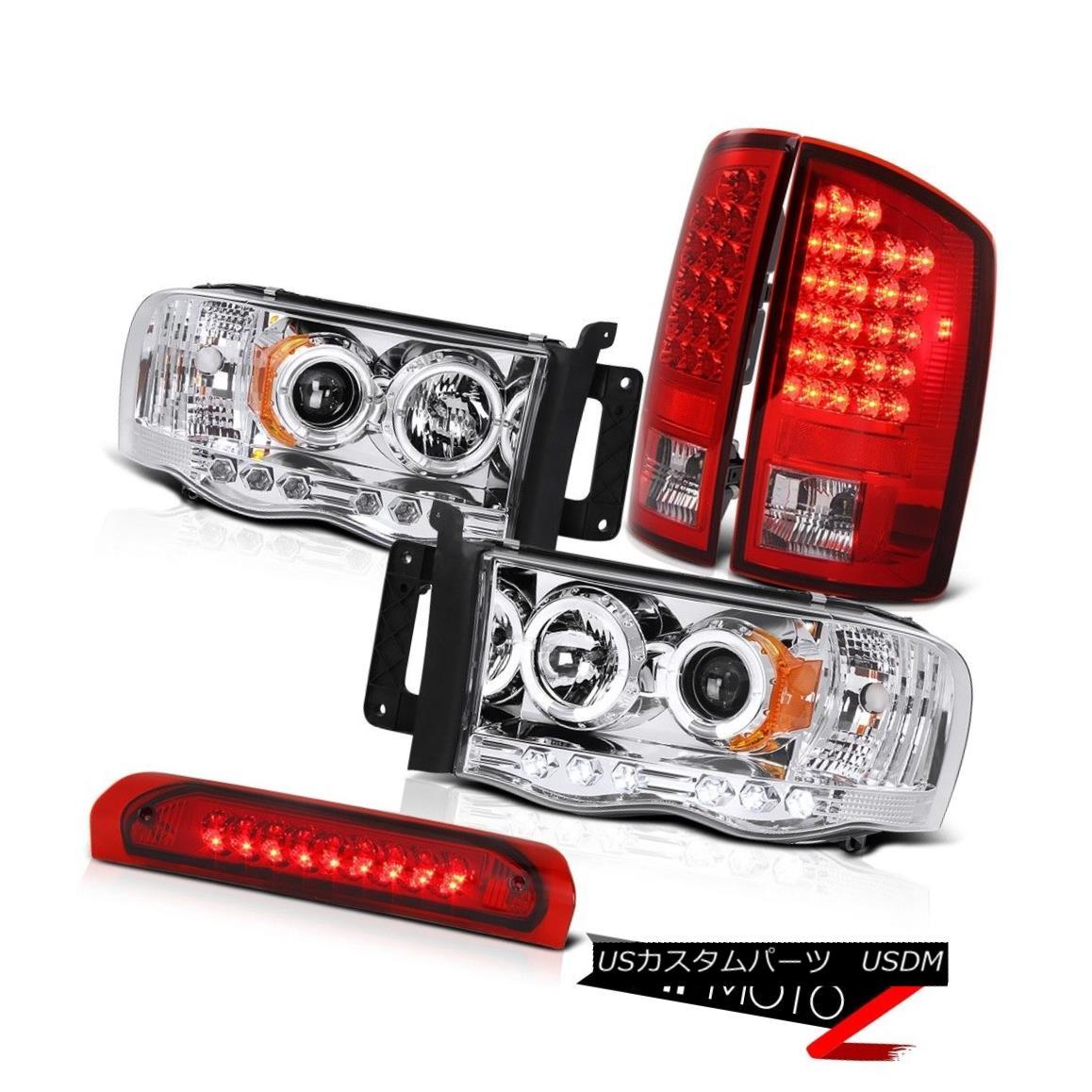 テールライト [FACTORY STYLE] Red LED Brake Tail Lamp Chrome Halo Projector Head Light Cab 3RD [ファクトリースタイル]レッドLEDブレーキテールランプクロームハロープロジェクターヘッドライトキャブ3RD