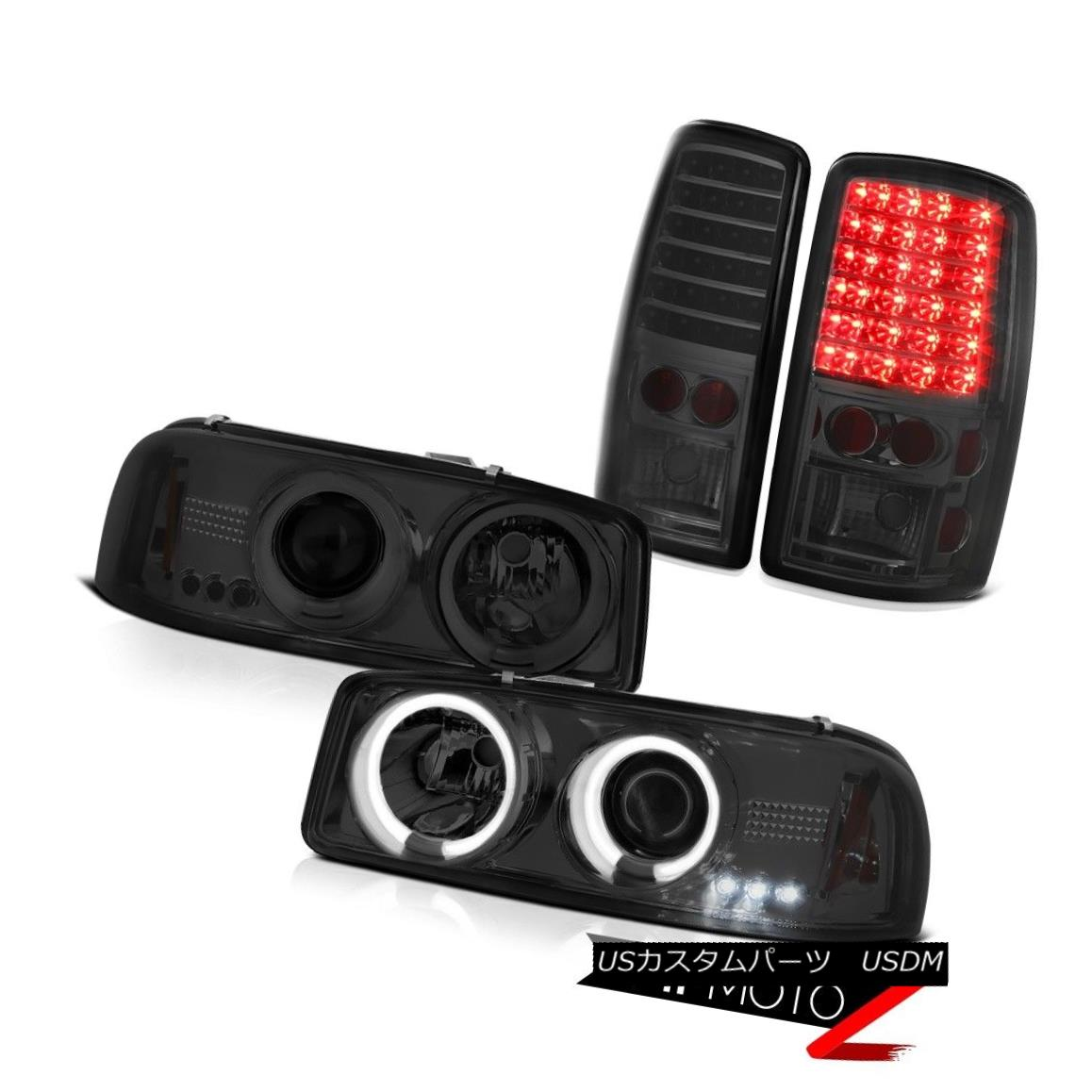 テールライト GMC Denali CCFL Halo Projector Headlights 2000-2006 Yukon Tail Lights LED Tinted GMC Denali CCFL Haloプロジェクターヘッドライト2000-2006 Yukon Tail Lights LED Tinted