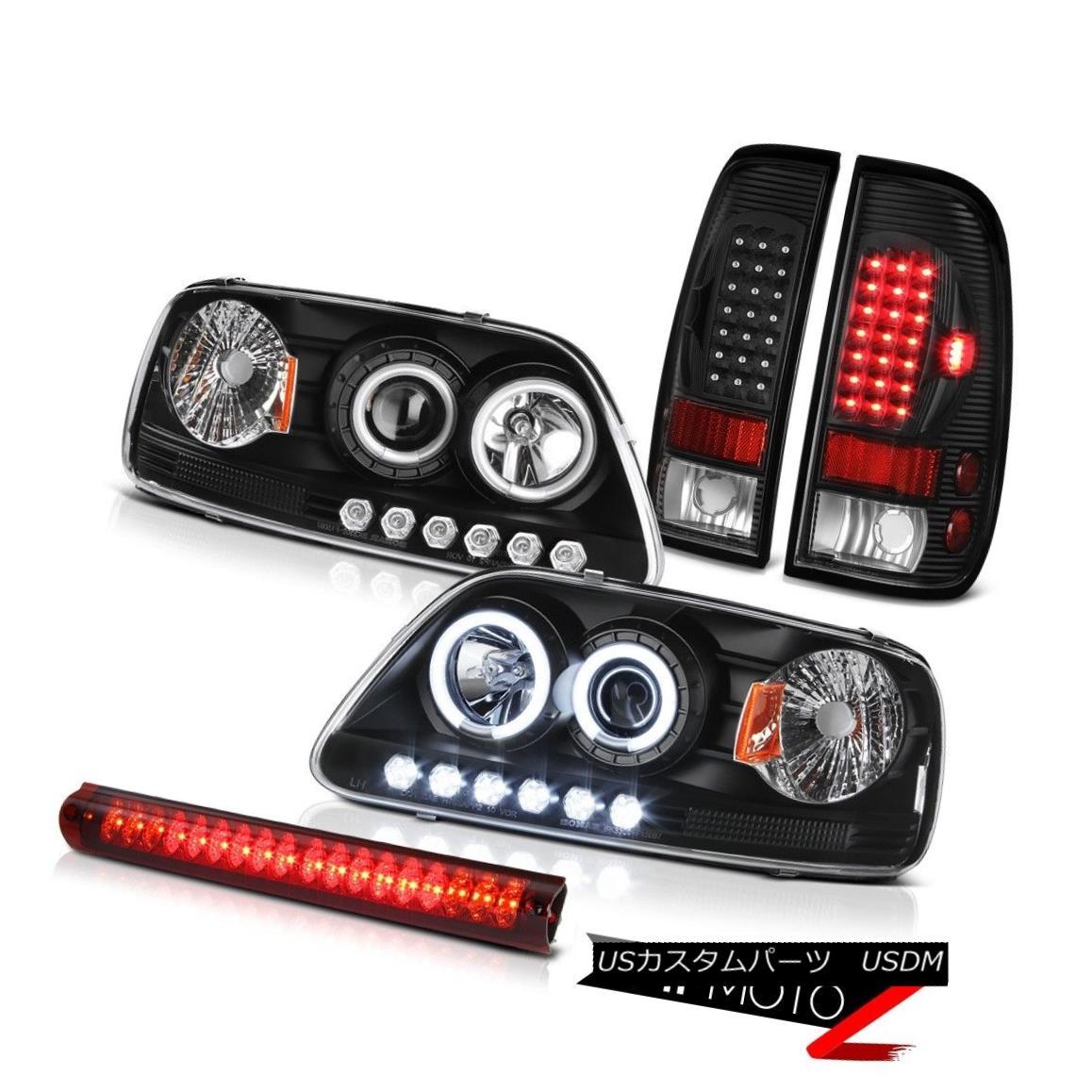 テールライト 99 2000 2001 F150 Triton Black Projector Headlight Tail Lamp High Cargo Lamp LED 99 2000 2001 F150トリトンブラックプロジェクターヘッドライトテールランプ高貨物ランプLED