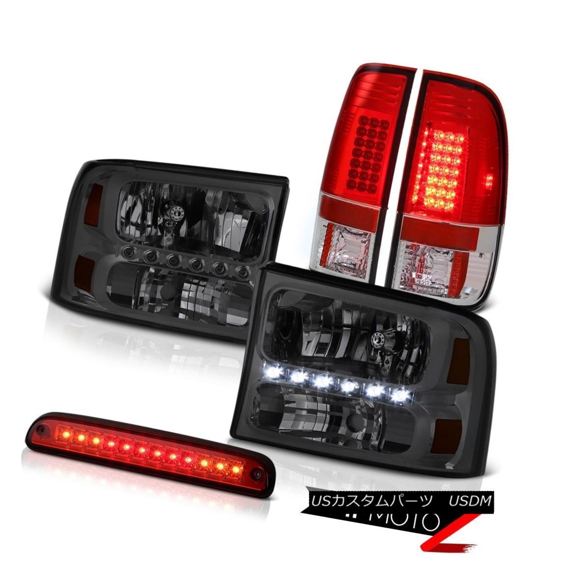 テールライト Dark Smoke Headlamp Wine Red 3rd Brake LED TailLight 99 00 01 02 03 04 Ford F350 ダークスモークヘッドランプワインレッド第3ブレーキLED TailLight 99 00 01 02 03 04 Ford F350