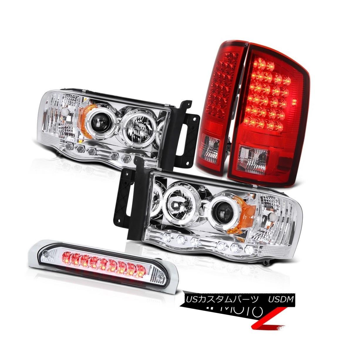 テールライト 2002-2005 Ram Chrome LED 3RD Third Brake Tail Light Halo Projector Headlight NEW 2002-2005ラムクロームLED 3RD第3ブレーキテールライトハロープロジェクターヘッドライトNEW