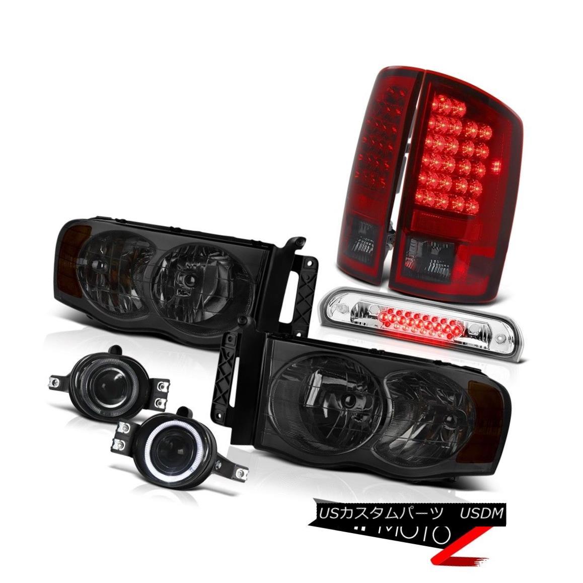 テールライト 02-05 Ram ST Smoke Headlights LEFT RIGHT Red LED Tail Lights Fog 3rd Brake Cargo 02-05 Ram ST煙ヘッドライトLEFT RIGHTレッドLEDテールライトフォグ3rdブレーキ貨物