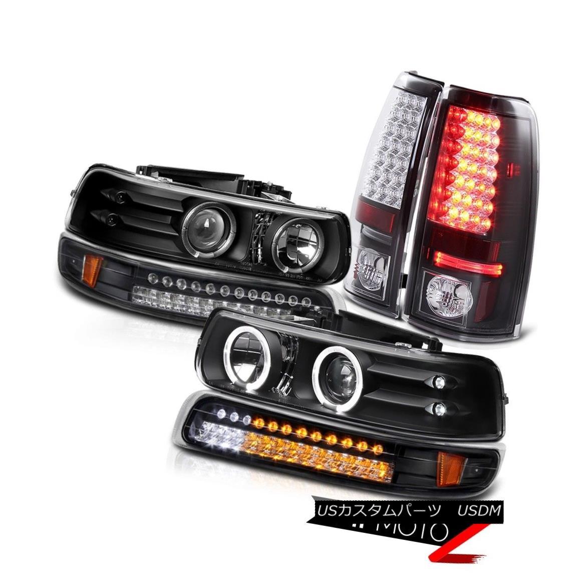 テールライト CHEVY Silverado 99-02 Angel Eye DRL Projector Headlights LED Parking Tail Lights CHEVY Silverado 99-02 Angel Eye DRLプロジェクターヘッドライトLEDパーキングテールライト
