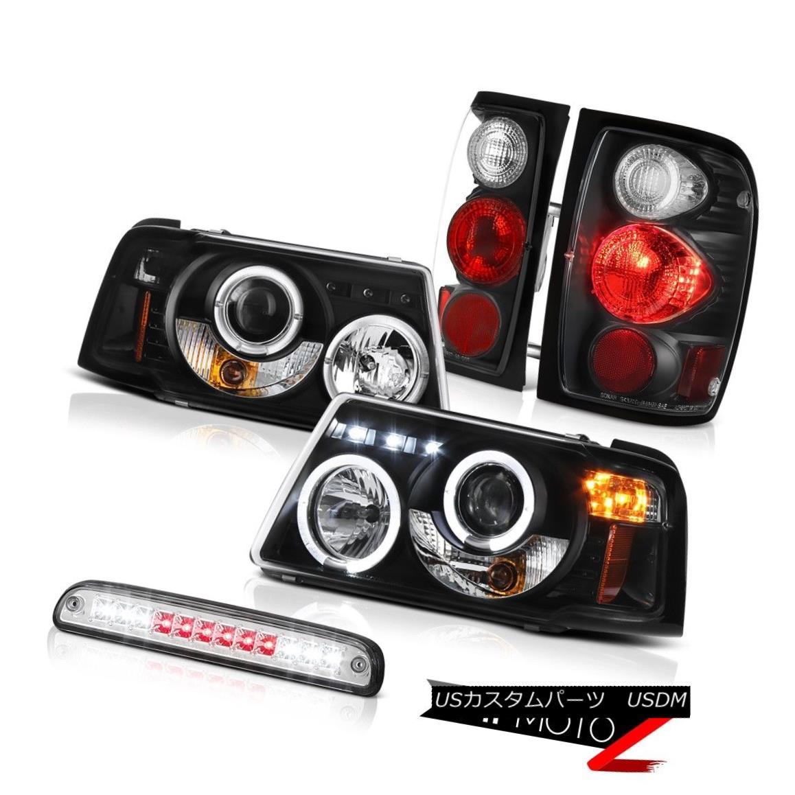 テールライト Dual Angle Eye Headlights Tail Lights Brake Chrome Third LED 01-11 Ranger 2.3L デュアルエンジェルアイヘッドライトテールライトブレーキクローム第3 LED 01-11レンジャー2.3L