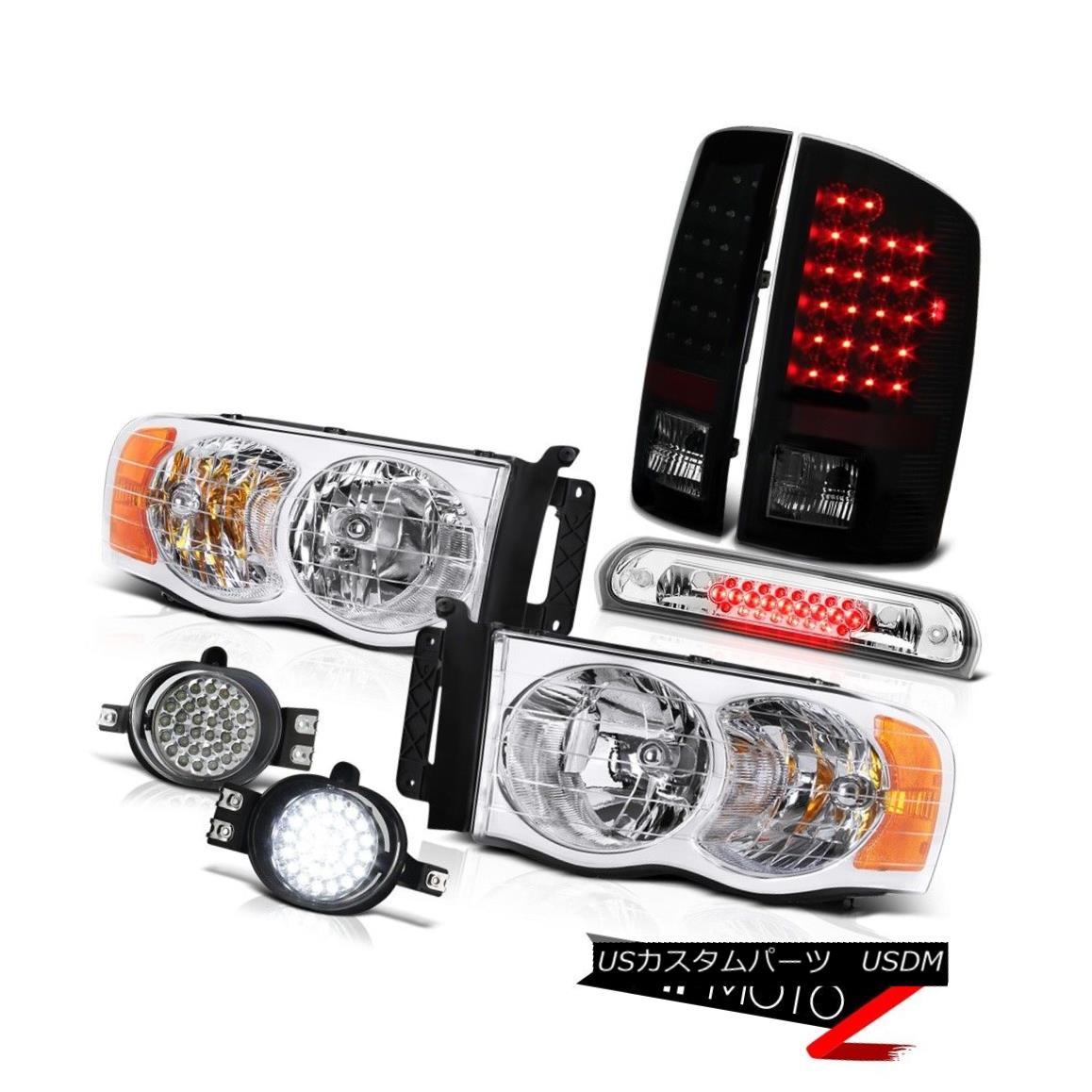 テールライト 02 03 04 05 Ram V6 L+R Headlights Bright LED Taillamps SMD Foglights Roof Brake 02 03 04 05 Ram V6 L + Rヘッドライト明るいLEDタイルランプSMDフォグライト屋根ブレーキ