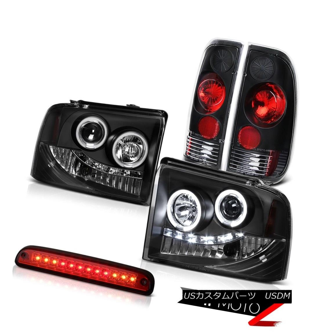 テールライト Brightest CCFL Halo Headlights Rear Brake Lamp High Cargo LED 05 06 07 Ford F250 最も明るいCCFL HaloヘッドライトリアブレーキランプHigh Cargo LED 05 06 07 Ford F250