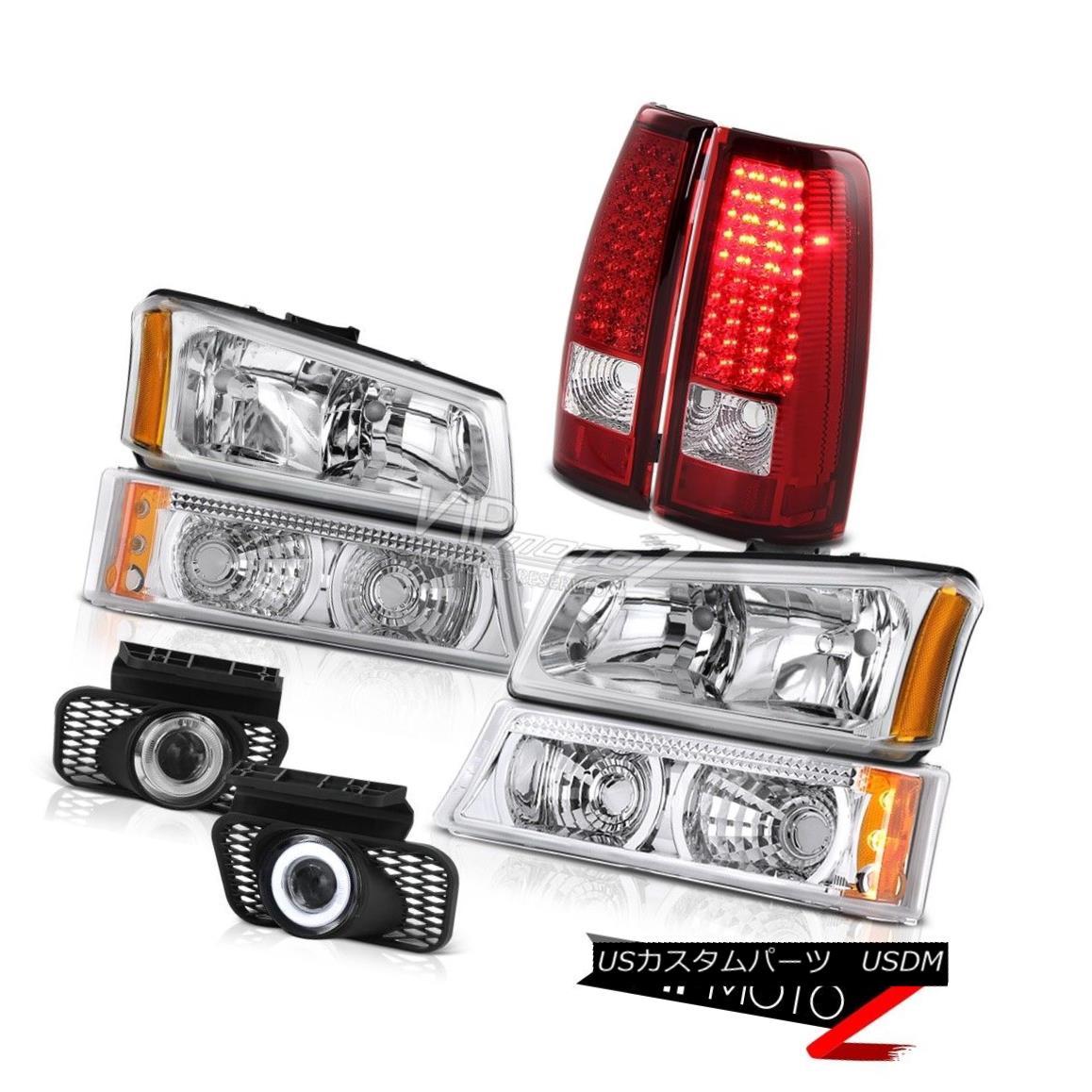 テールライト Left Right Front Headlight LED Bulb Brake Tail SMD DRL Foglights 03-06 Silverado 左右フロントヘッドライトLEDバルブブレーキテールSMD DRLフォグライト03-06シルバラード