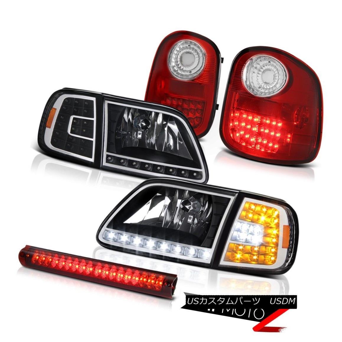 テールライト DRL Headlights Lamp Rosso Red LED Tail Lights 3rd 97-03 F150 Flareside Lightning DRLヘッドライトランプロッソレッドテールライト3rd 97-03 F150 Flareside Lightning