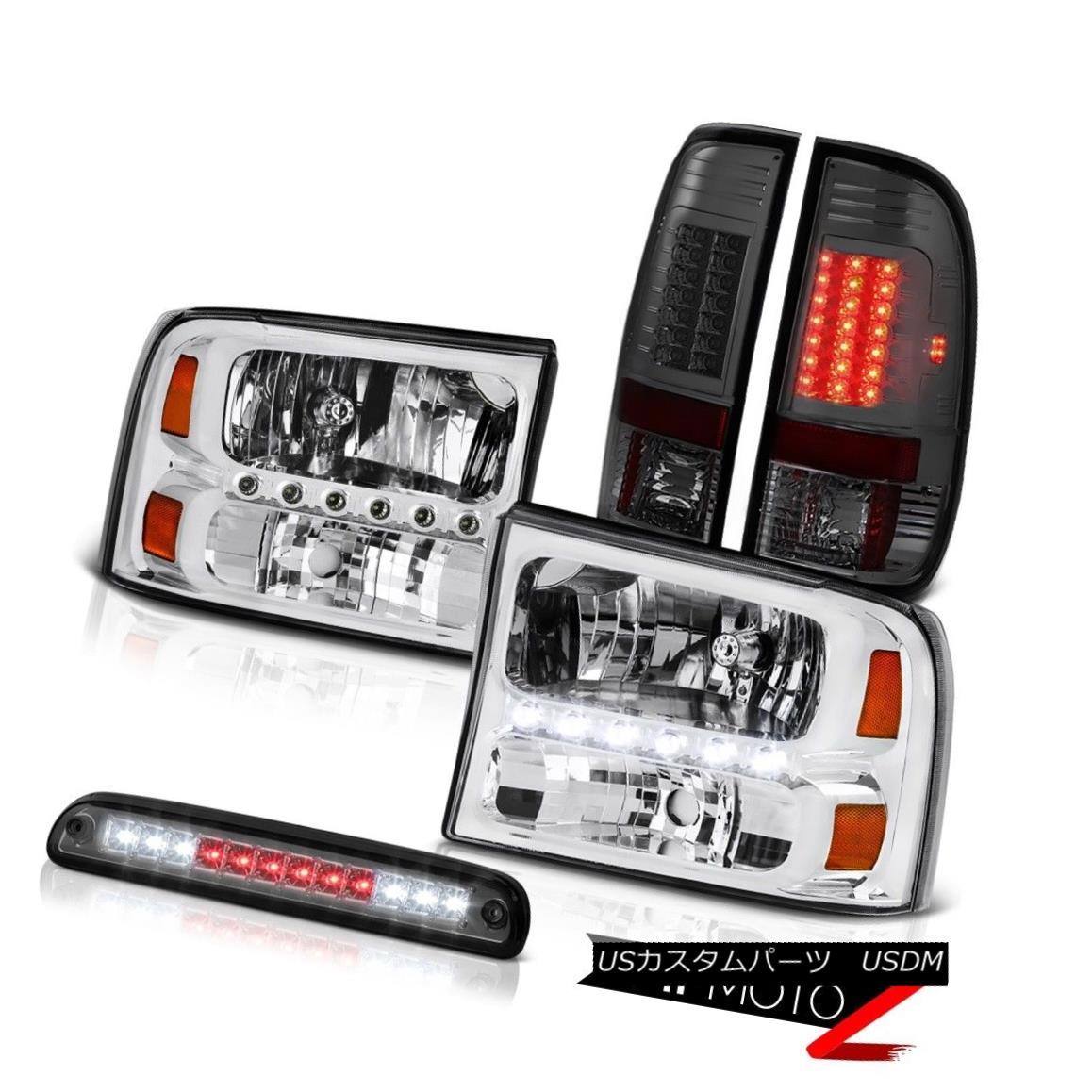 テールライト Clear Headlamps Stop LED Smoke Dark Brake Tail Light 99 00 01 02 03 04 F250 6.8L クリアヘッドランプストップLEDスモークダークブレーキテールライト99 00 01 02 03 04 F250 6.8L