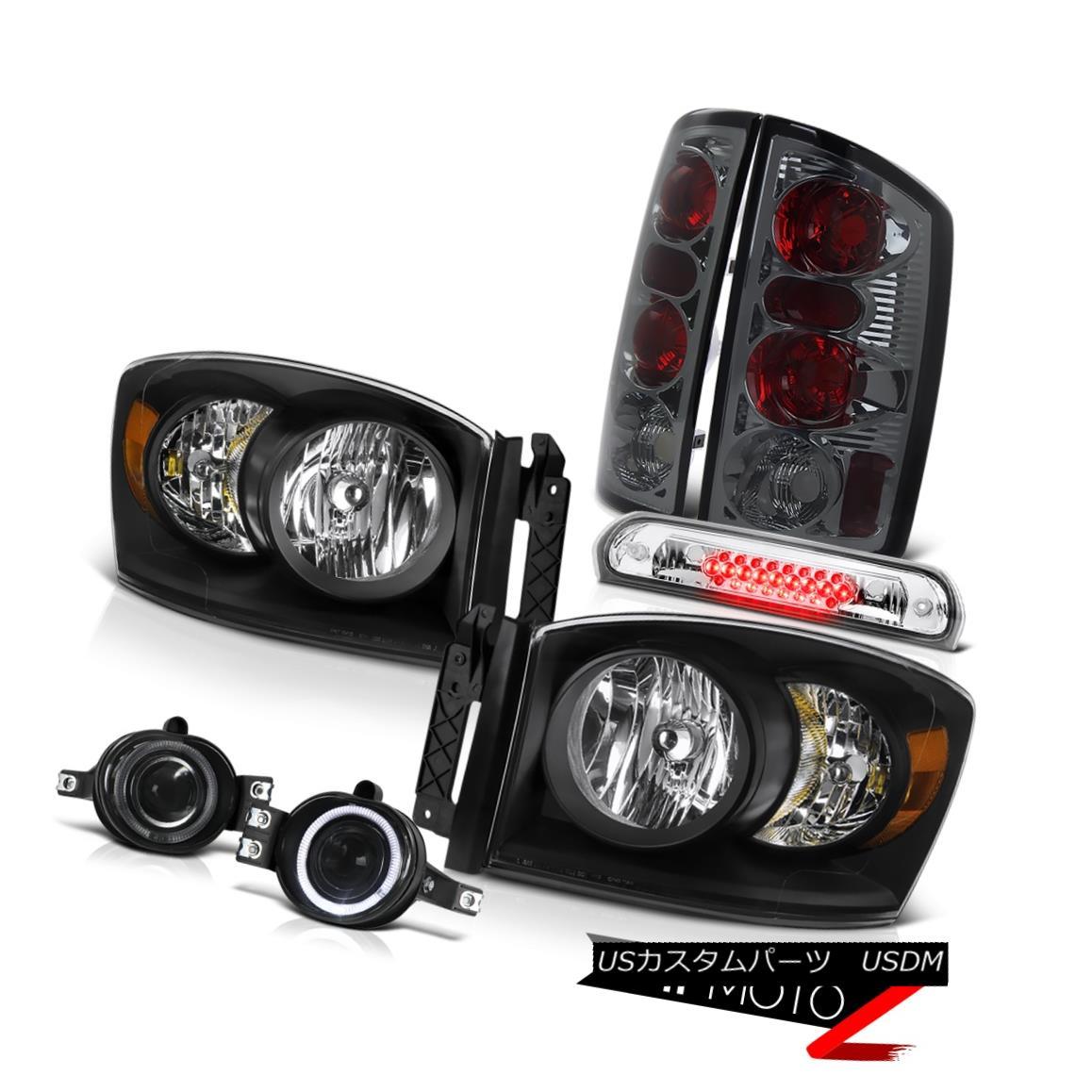 テールライト Clear/Black Headlights Altezza Tail Lamps Fog Roof Brake Cargo 2006 Dodge Ram WS クリア/ブラックヘッドライトAltezzaテールランプフォグルーフブレーキカーゴ2006 Dodge Ram WS