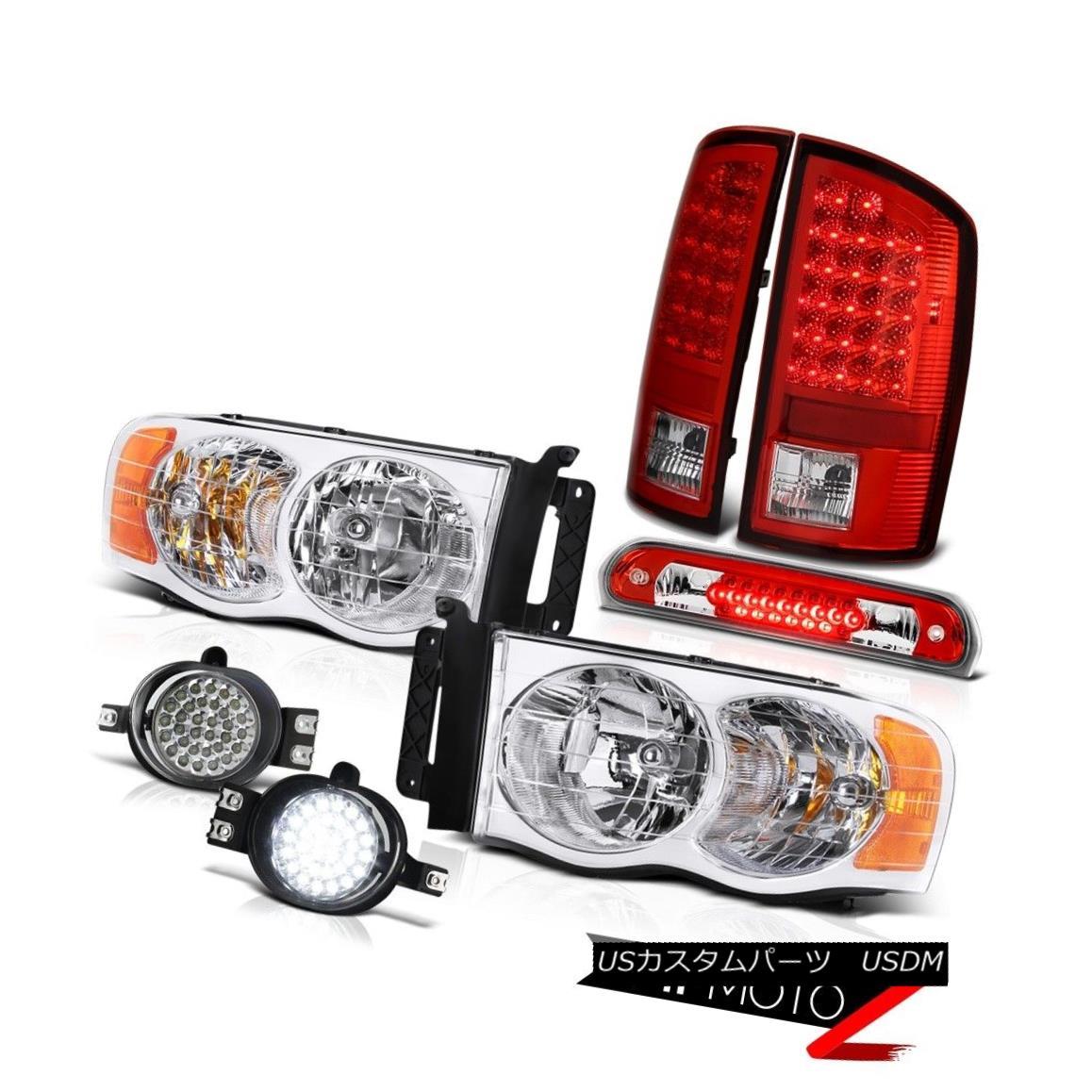 テールライト 02 03 04 05 Ram Magnum V8 Crystal Headlights LED Signal Tail Lights Bumper Fog 02 03 04 05ラムマグナムV8クリスタルヘッドライトLED信号テールライトバンパーフォグ