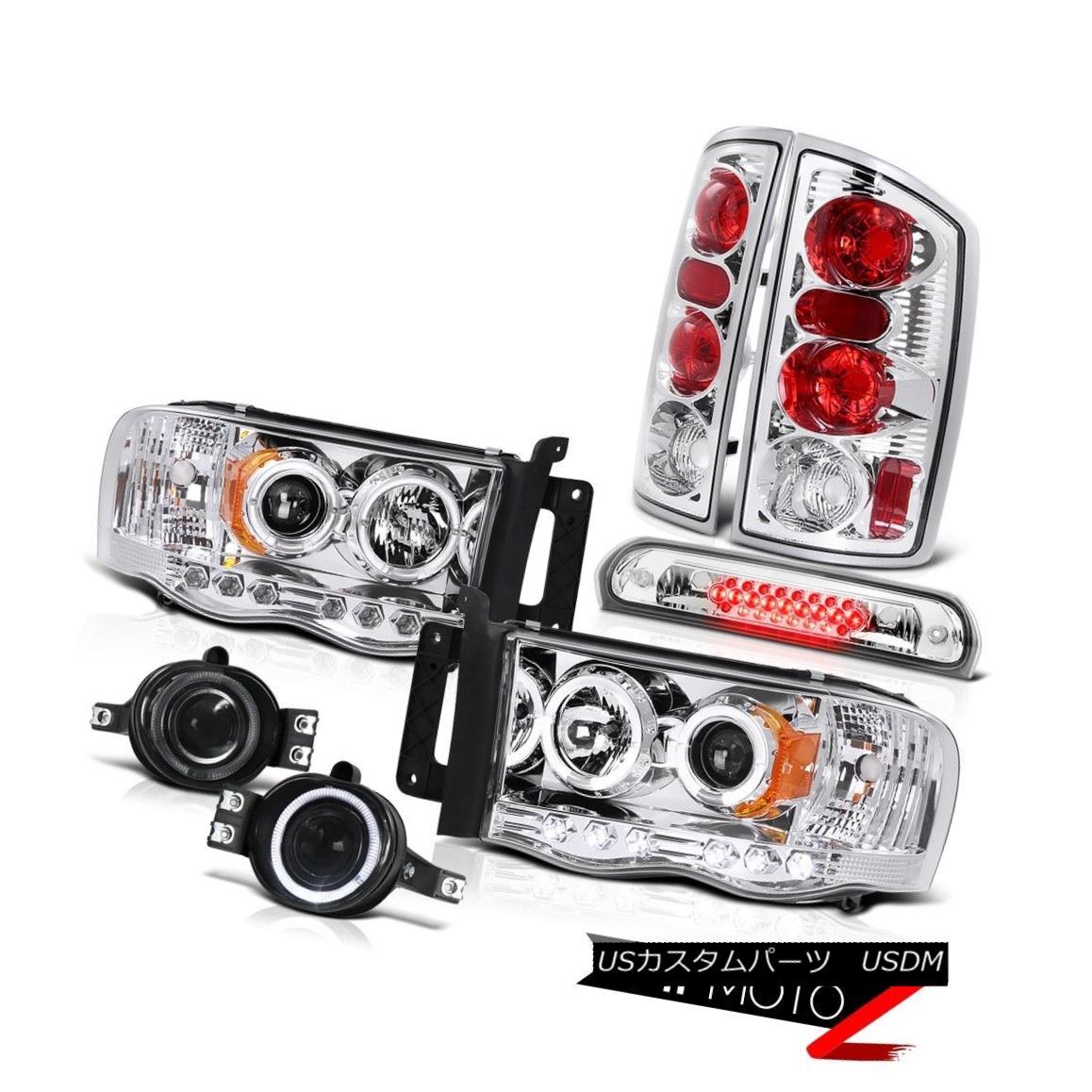 テールライト 02-05 Dodge Ram LED Headlights Signal Tail Lamps Projector Foglights High Stop 02-05 Dodge Ram LEDヘッドライト信号テールランププロジェクターフォグライトハイストップ