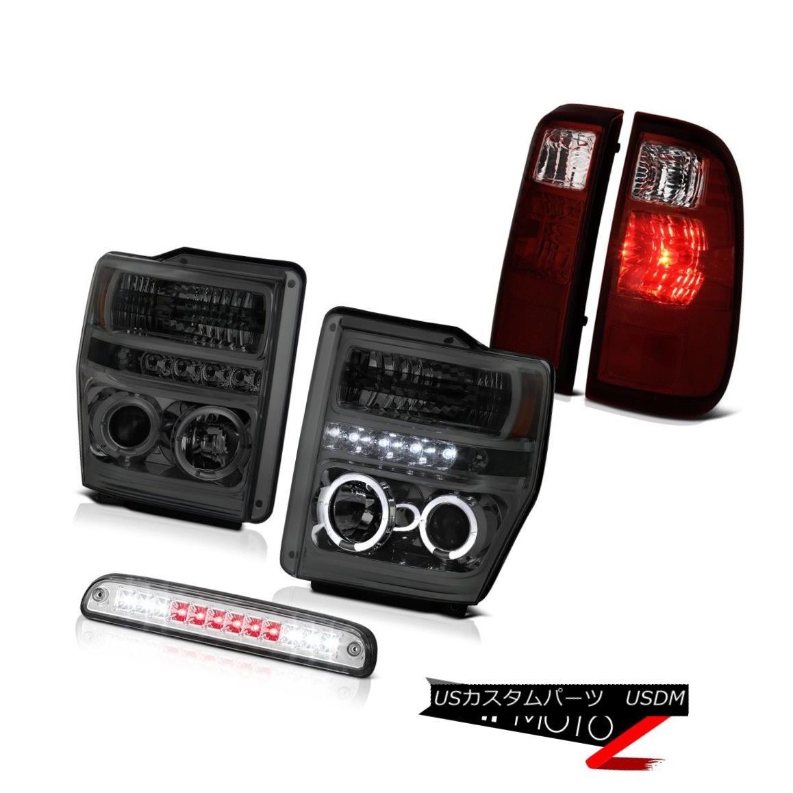 テールライト Projector Headlights High Stop LED Tail Lights Lamps 2008-2010 F350 Turbo Diesel プロジェクターヘッドライトハイストップLEDテールライトランプ2008-2010 F350ターボディーゼル