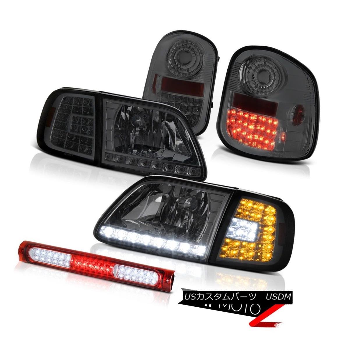 テールライト SMD Bumper+Headlights LED Taillights 3rd Brake Red 1997-2003 Ford F150 Flareside SMDバンパー+ヘッドライト hts LEDテールライト第3ブレーキ赤1997-2003 Ford F150 Flareside