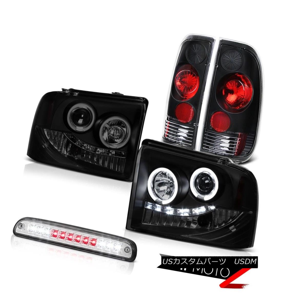 テールライト Dark Smoke Headlights Reverse Tail Lights Euro 3rd Brake LED 05-07 F350 Amarillo ダークスモークヘッドライトリバーステールライトユーロ第3ブレーキLED 05-07 F350アマリロ