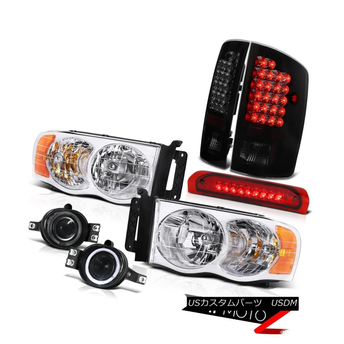 テールライト {MOST POPULAR}Dodge Ram DRL Headlights+Fog+Roof Brake+