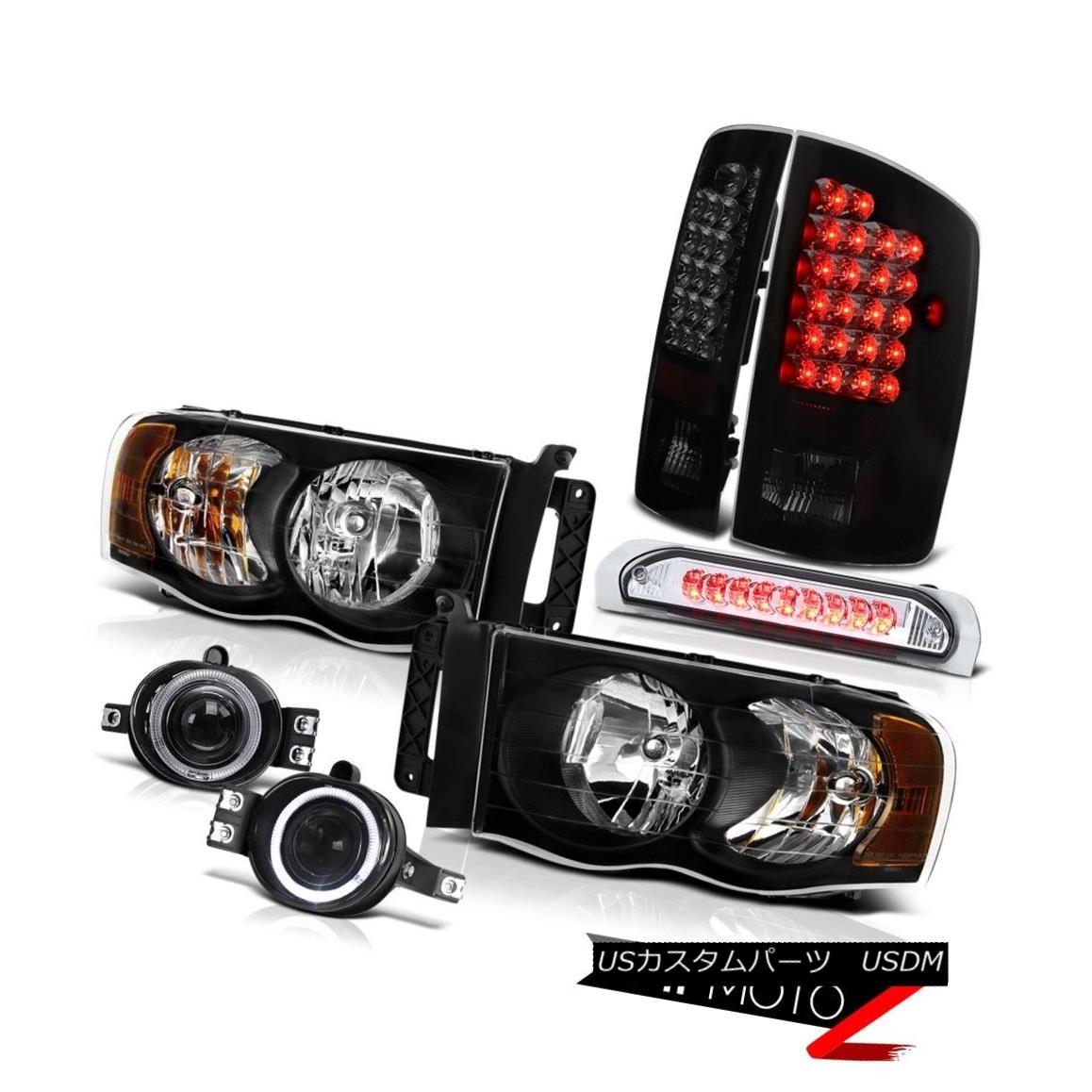 テールライト Dodge Ram 3500 5.9L SLT DRL Headlamps+Bumper Fog+3rd Brake+LED Taillights Dodge Ram 3500 5.9L SLT DRLヘッドライト+バンプ霧+第3ブレーキ+ LED曇り