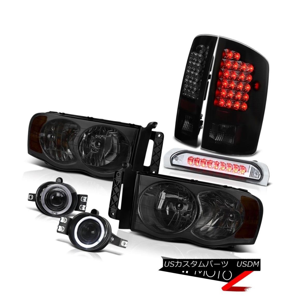 テールライト Ram 3500 5.9L Laramie DRL Head Lights+Driving Fog+3rd Brake Cargo+LED Tail Lamps Ram 3500 5.9L Laramie DRLヘッドライト+ドライビングフォグ+第3ブレーキカーゴ+ LEDテールランプ