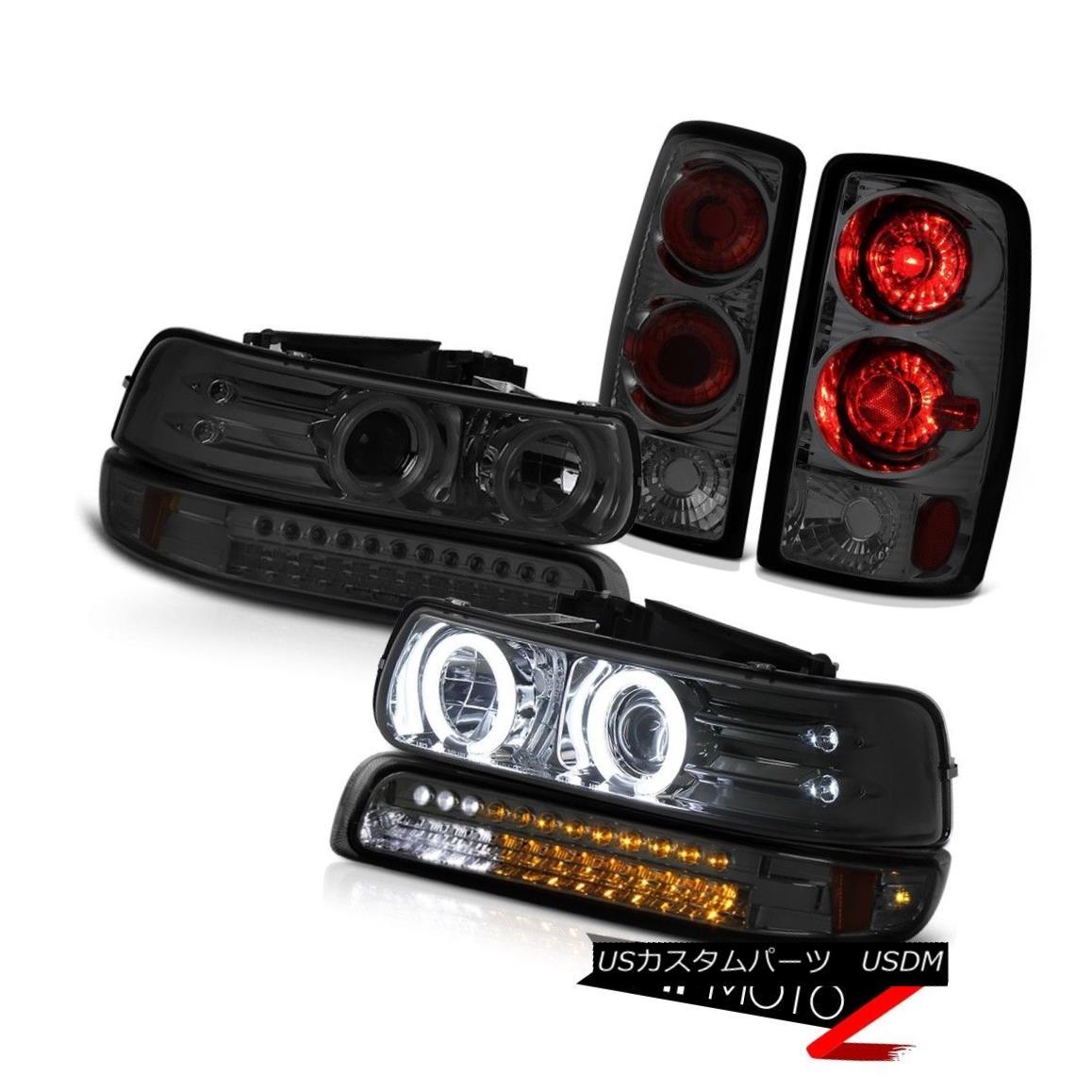 テールライト 2000-2006 Chevy Suburban Brightest CCFL Halo Headlights SMD Tinted Taillight 2000-2006シボレー郊外で最も明るいCCFLハローヘッドライトSMDティアテッドティアライト