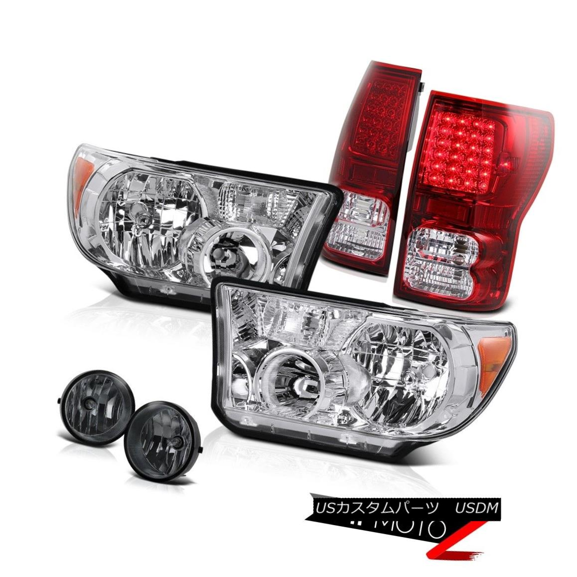 テールライト Crystal Clear L+R Headlamp+Led Tail Light+Fog Lamp 07-2013 Toyota Tundra クリスタルクリアL + Rヘッドランプ+ Ledテールライト+フォグランプ07-2013 Toyota Tundra