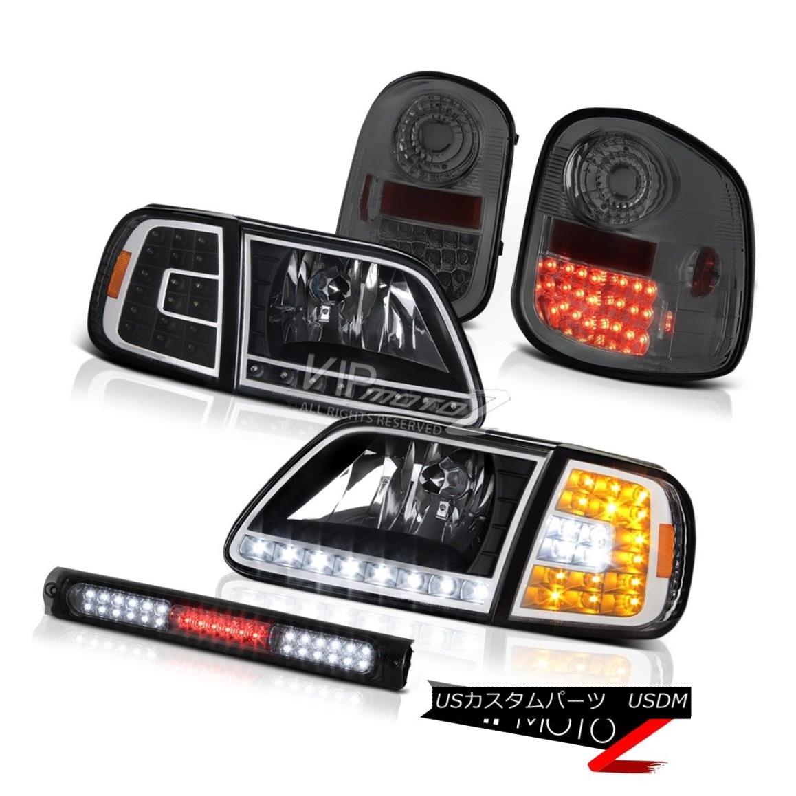 テールライト DRL Bumper+Headlamps L.E.D Tail Lights Smoke High Stop LED 1997-2003 F150 XLT DRLバンパー+ヘッドラム ps L.E.DテールライトスモークハイストップLED 1997-2003 F150 XLT