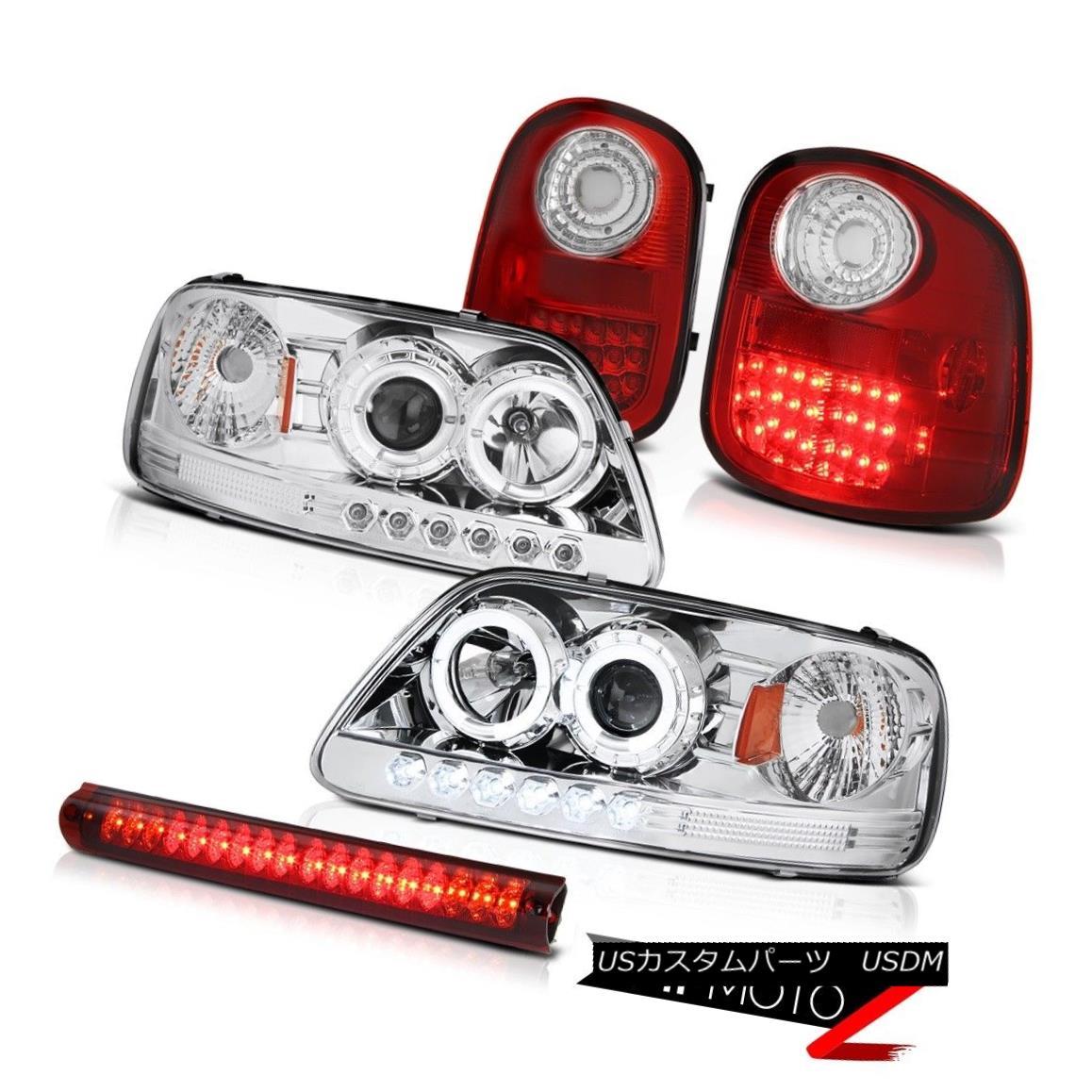 テールライト 2x Halo Headlights Red LED Taillight Wine 3rd Brake 1997-2003 F150 Flareside XLT 2xハローヘッドライト赤色LEDテールライトワイン第3ブレーキ1997-2003 F150 Flareside XLT