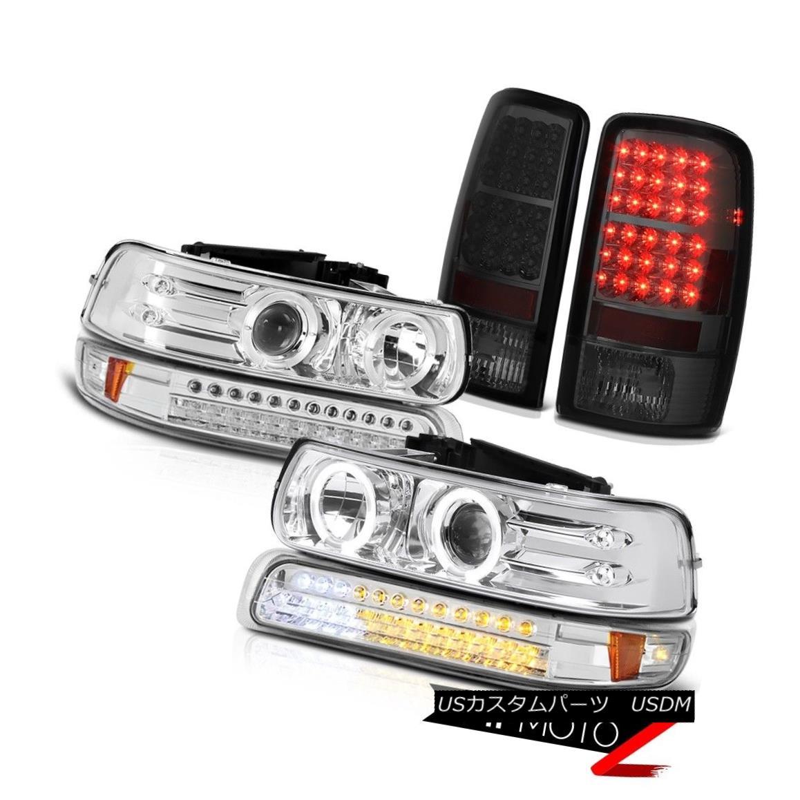 テールライト 2000-2006 Suburban 8.1L Chrome Projector Headlamps SMD Parking Brake Tail Lights 2000-2006郊外8.1LクロームプロジェクターヘッドランプSMDパーキングブレーキテールライト