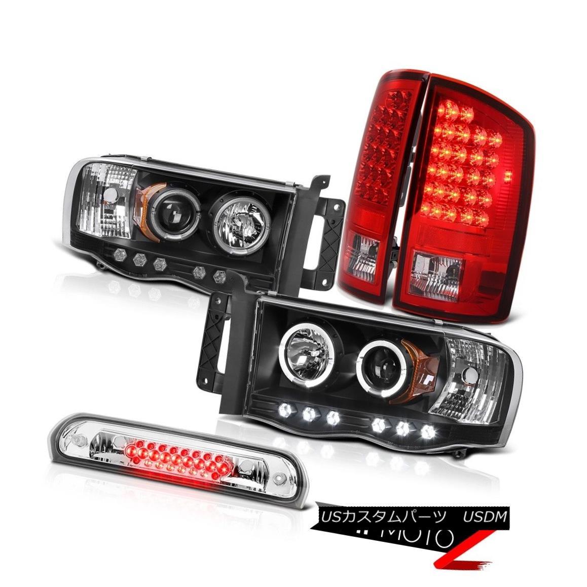 Black Headlights Brake LED Rear Tail Lights High Roof Cargo 2002-2005 Ram 3500