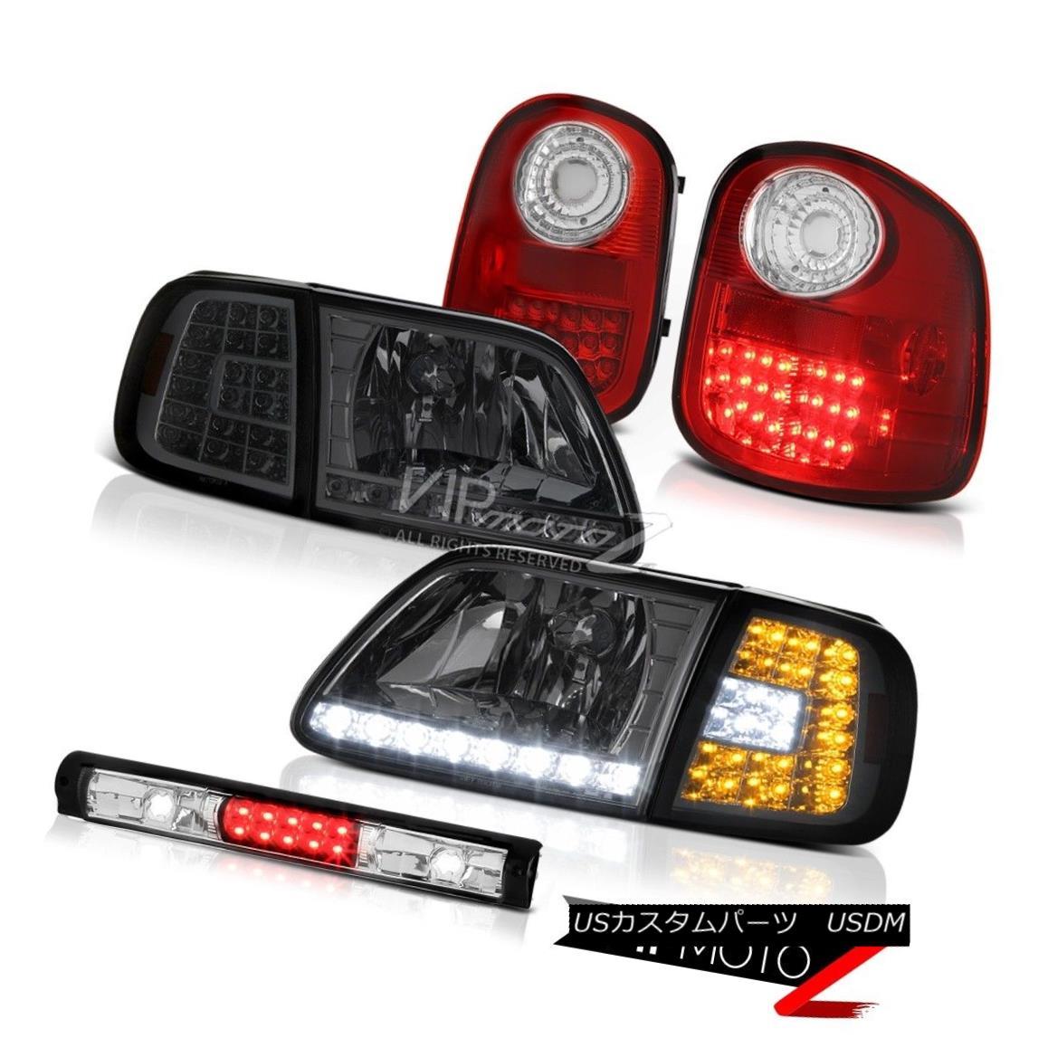 テールライト Parking DRL Headlamps Red Taillight High Brake LED 1997-2003 F150 Flareside 4.2L パーキングDRLヘッドランプレッドタイルハイブレーキLED 1997-2003 F150フラレイド4.2L