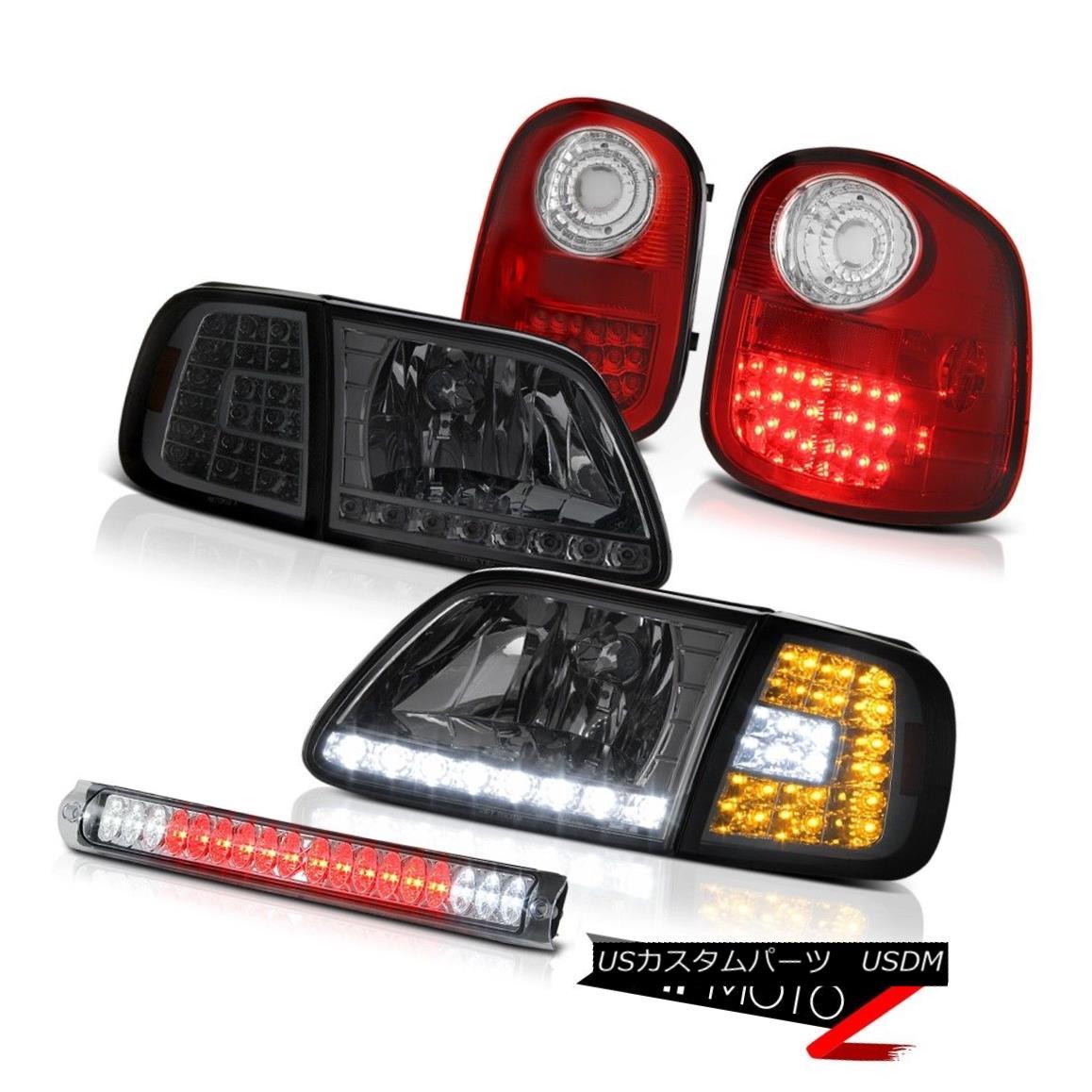 テールライト Corner SMD DRL Headlights Bright Taillamps Brake LED 97-03 F150 Flareside Lariat コーナーSMD DRLヘッドライトブライトTaillampsブレーキLED 97-03 F150 Flareside Lariat