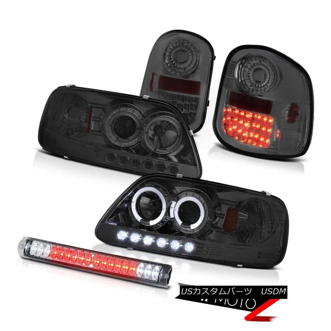 テールライト Smoke Projector Headlights LED Tail Lights Third Brake Cargo 1997-2003 F150 XLT 煙プロジェクターヘッドライトLEDテールライト第3ブレーキカーゴ1997-2003 F150 XLT