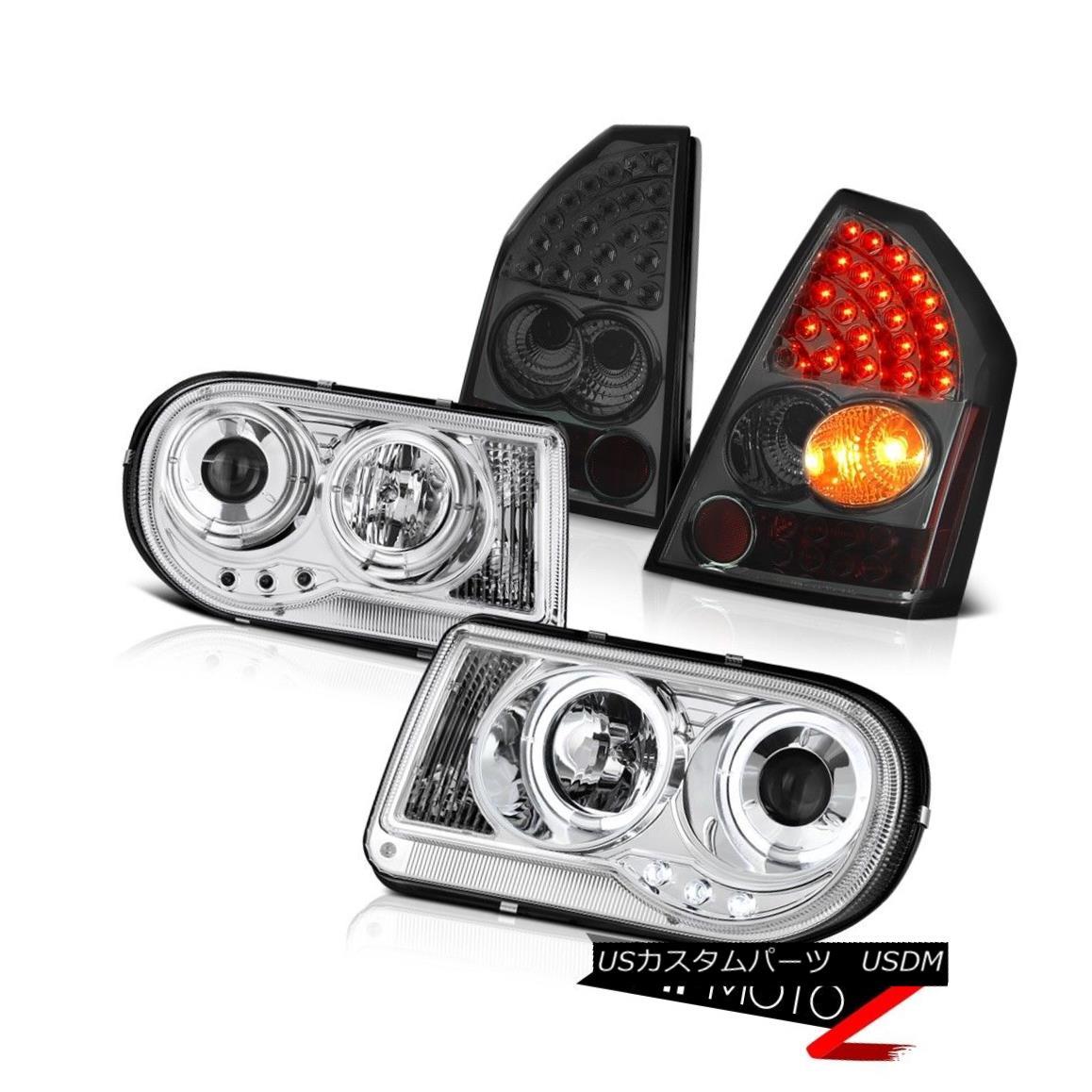 テールライト 05-07 Chrysler 300C 6.1L [Brightest] Projector Headlights L.E.D Tail Light Smoke 05-07クライスラー300C 6.1L [明るい]プロジェクターヘッドライトL.E.Dテールライトスモーク