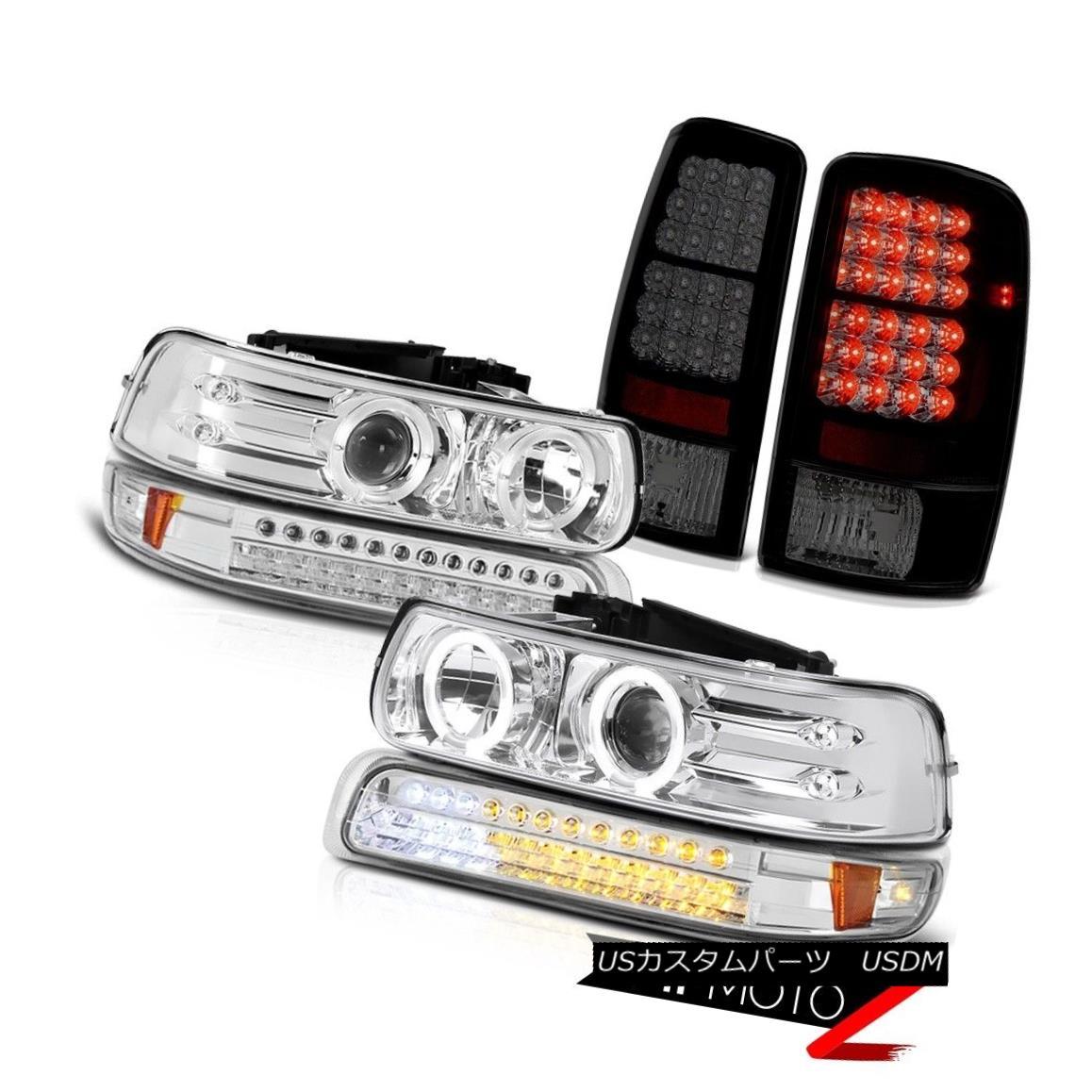 テールライト Bright Chrome LED Headlights SMD Parking Smoke Brake Lamps 2000-2006 Tahoe 5.3L 明るいクロームLEDヘッドライトSMD駐車煙ブレーキランプ2000-2006タホ5.3L