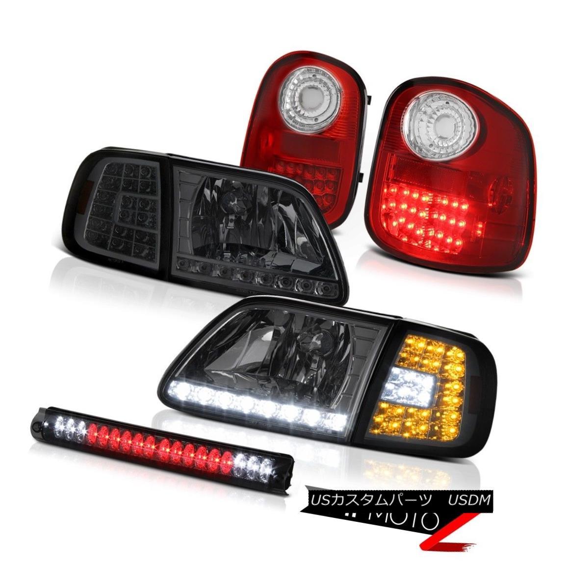 テールライト Smoke LED Corner Headlights Tail Lights Assembly 3rd Brake 97-03 F150 Flareside 煙LEDコーナーヘッドライトテールライトアセンブリ第3ブレーキ97-03 F150 Flareside