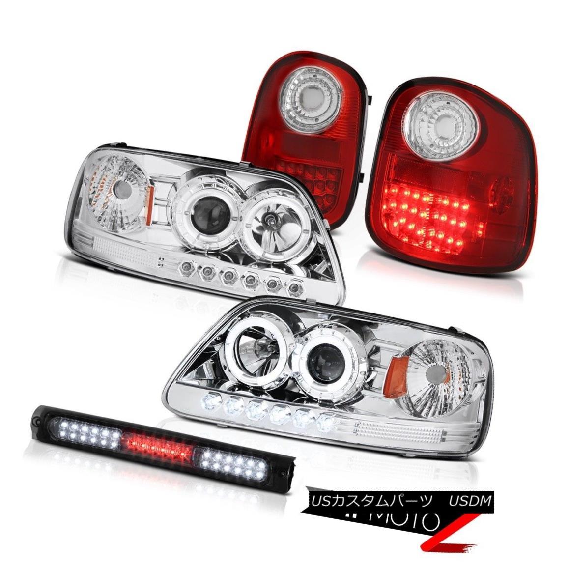 テールライト 2X Angel Eye Headlights LED Taillights Stop 97-03 F150 Flareside Harley Davidson 2XエンジェルアイヘッドライトLEDテールライトストップ97-03 F150 Flaresideハーレーダビッドソン