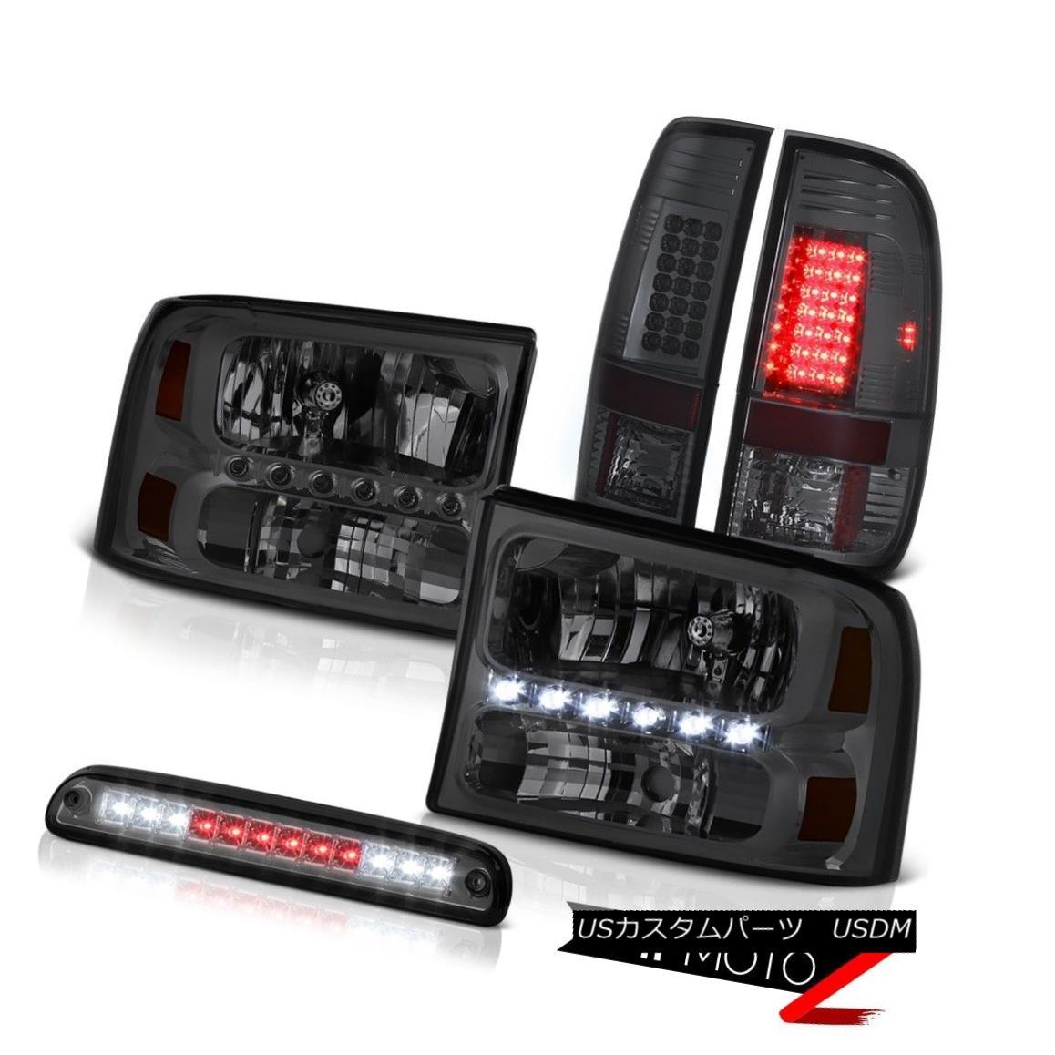 テールライト Tinted Headlamps Roof Stop LED Blubs Third Brake TailLights 1999-2004 F250 6.8L 着色ヘッドランプルーフストップLED電球第3ブレーキテールライト1999-2004 F250 6.8L