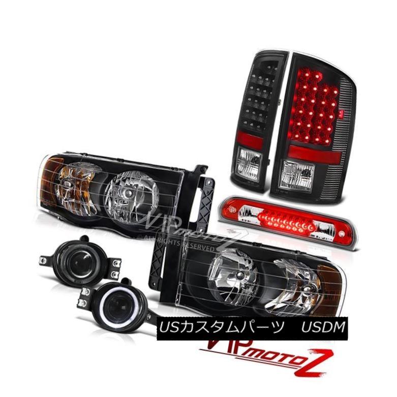 テールライト 02-05 Dodge Ram Inky Black Headlights SMD Tail Lights Projector Fog 3rd LED 02-05 Dodge Ram InkyブラックヘッドライトSMDテールライトプロジェクターフォグ3rd LED