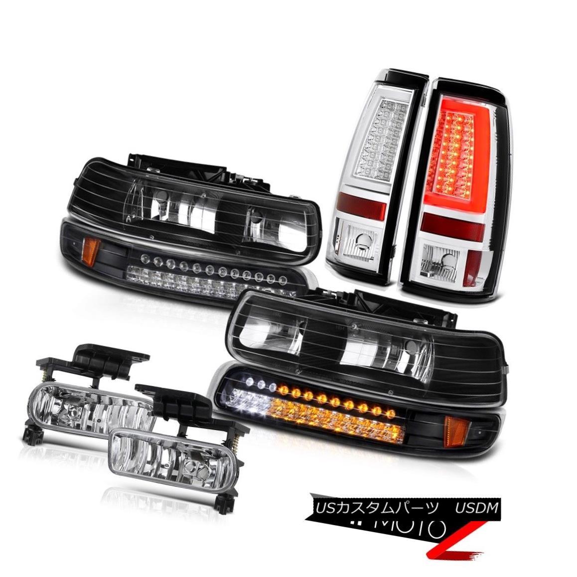 テールライト 99 00 01 02 Silverado LS Taillights Fog Lights Signal Light Tron Style Tron Tube 99 00 01 02 Silverado LS灯台フォグライトシグナルライトトロンスタイルトロンチューブ