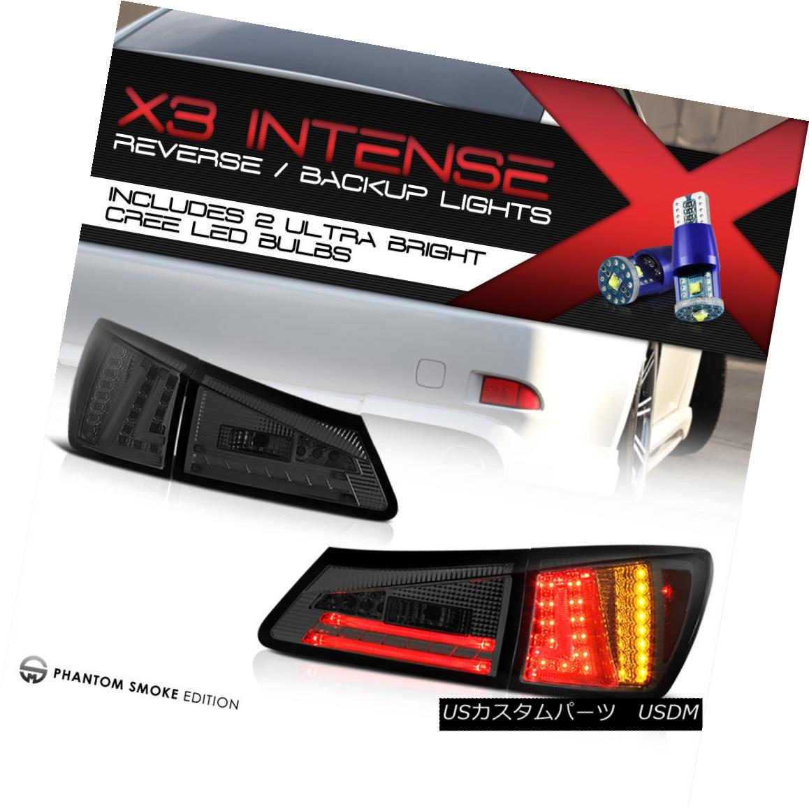 テールライト [CREE LED BACKUP] 2006 2007 2008 Lexus IS350 IS250 Trunk LED Tail Lights Brake [CREE LED BACKUP] 2006年2007年2008年Lexus IS350 IS250トランクLEDテールライトブレーキ