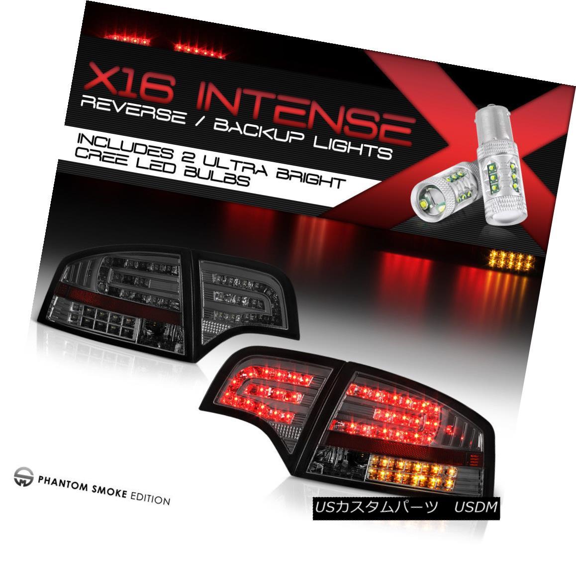 テールライト !High-Power SMD Reverse! 2005-2008 Audi A4 S4 RS4 B7 LED Smoke Tinted Tail Light !ハイパワーSMDリバース! 2005-2008 Audi A4 S4 RS4 B7 LED煙がかかったテールライト