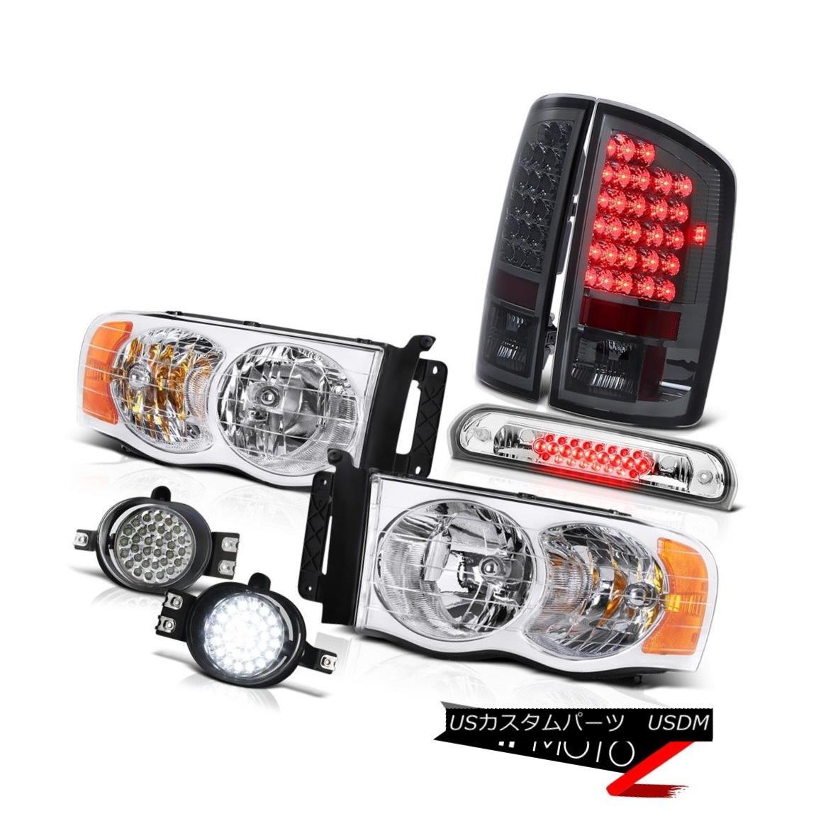 テールライト 02-05 Ram SLT Crystal Clear Headlights Parking Tail Lights SMD LED Fog Roof Stop 02-05 Ram SLTクリスタルクリアヘッドライトパーキングテールライトSMD LEDフォグルーフストップ