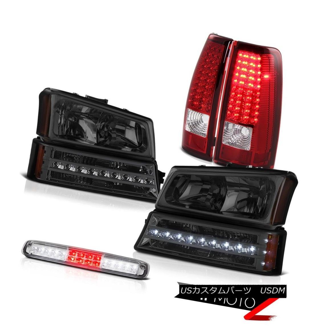 テールライト 2003-2006 Silverado Roof Brake Lamp Dark Smoke Headlights Parking Red Rear Lamps 2003-2006シルバラド屋根のブレーキランプ暗い煙のヘッドライトパーキングレッドのリアライト