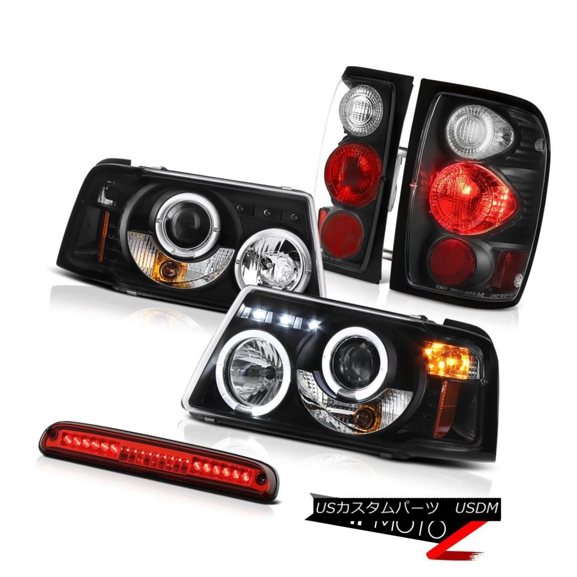 テールライト Halo Projector Headlights Tail Lights High Stop LED Red 2001-2011 Ranger 3.0L ハロープロジェクターヘッドライトテールライトハイストップLEDレッド2001-2011レンジャー3.0L