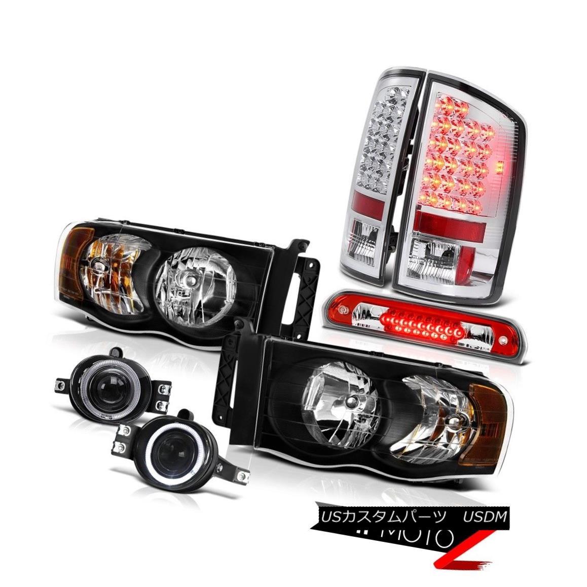 テールライト 02 03 04 05 Dodge Ram Headlights LED Taillamps Projector Bumper Roof Brake Cargo 02 03 04 05ダッジラムヘッドライトLEDタイルランププロジェクターバンパールーフブレーキカーゴ