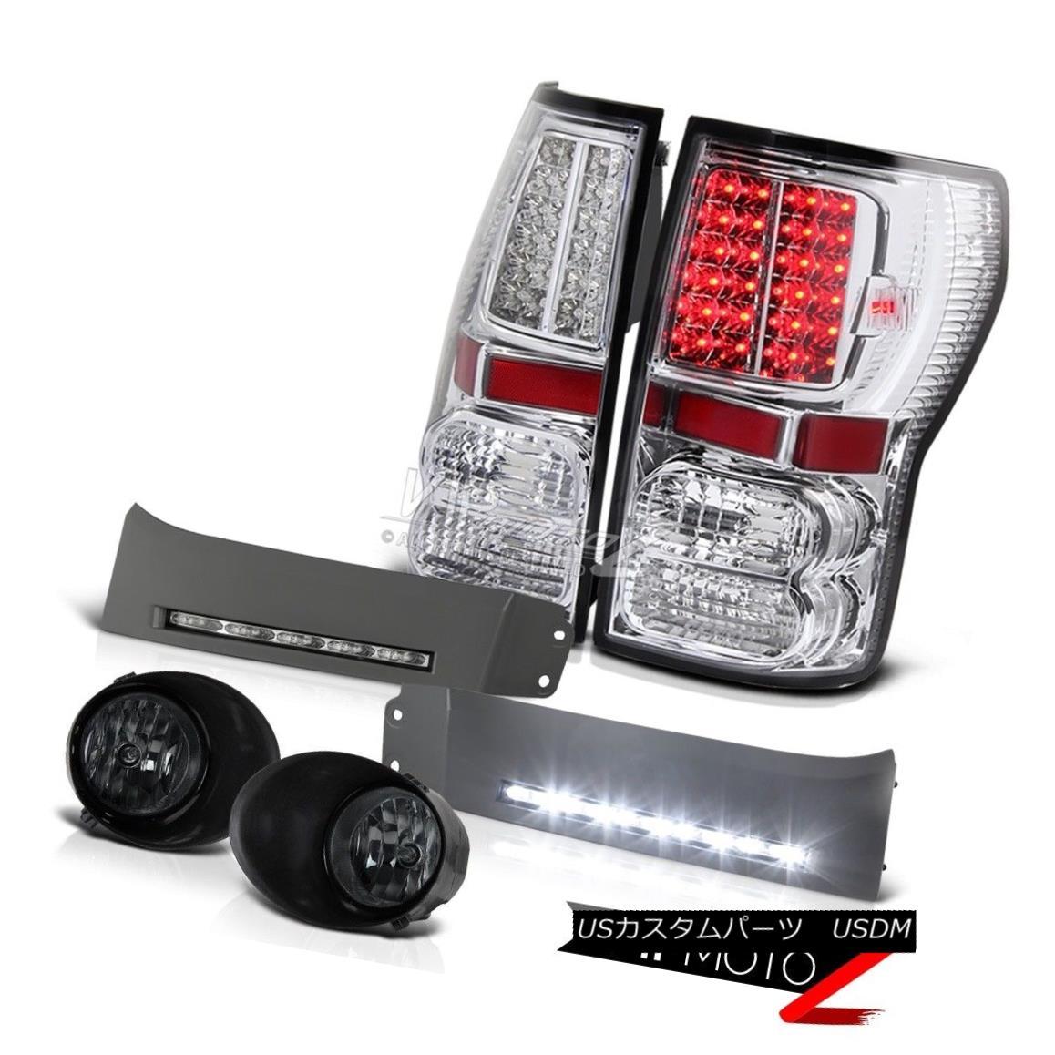 テールライト 07 08 09 10 11 12 13 Tundra V8 4.6L LED Tail Lights Smoke Foglight DRL Fog SMD 07 08 09 10 11 12 13トンドラV8 4.6L LEDテールライトスモークフォグライトDRLフォグSMD