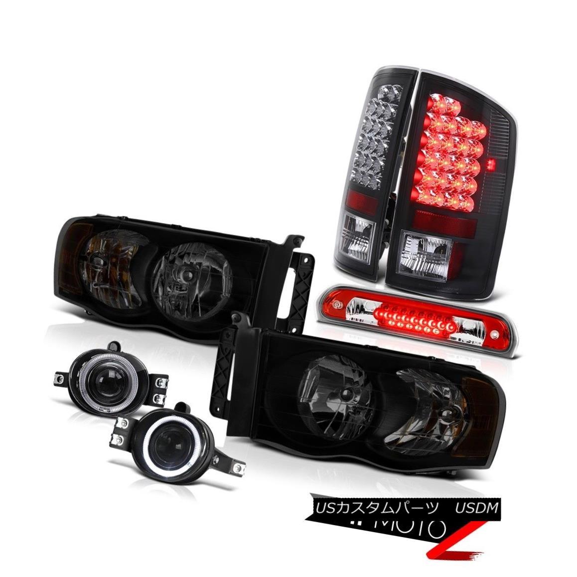 テールライト 02-05 Ram 1500 2500 3500 Slt Headlamps Chrome Fog Lamps 3RD Brake Lamp Taillamps 02-05 Ram 1500 2500 3500スリットヘッドランプクロームフォグランプ3RDブレーキランプタイヤランプ