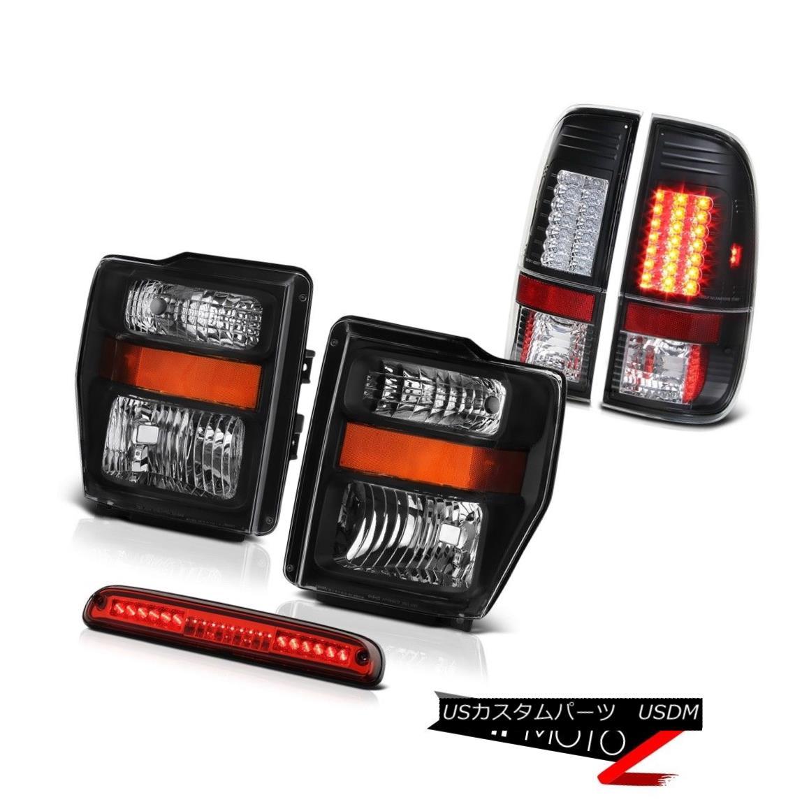 テールライト Black Headlights High Brake Cargo LED Lights 2008 2009 2010 F250 Harley Davidson ブラックヘッドライトハイブレーキカーゴLEDライト2008 2009 2010 F250ハーレーダビッドソン