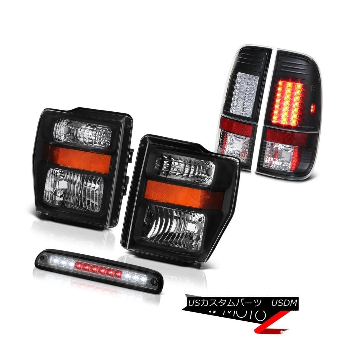 テールライト Left Right Headlights Roof Brake Cargo LED Black Lights 08 09 10 Ford F-350 XLT 左右のヘッドライトルーフブレーキカーゴLEDブラックライト08 09 10 Ford F-350 XLT